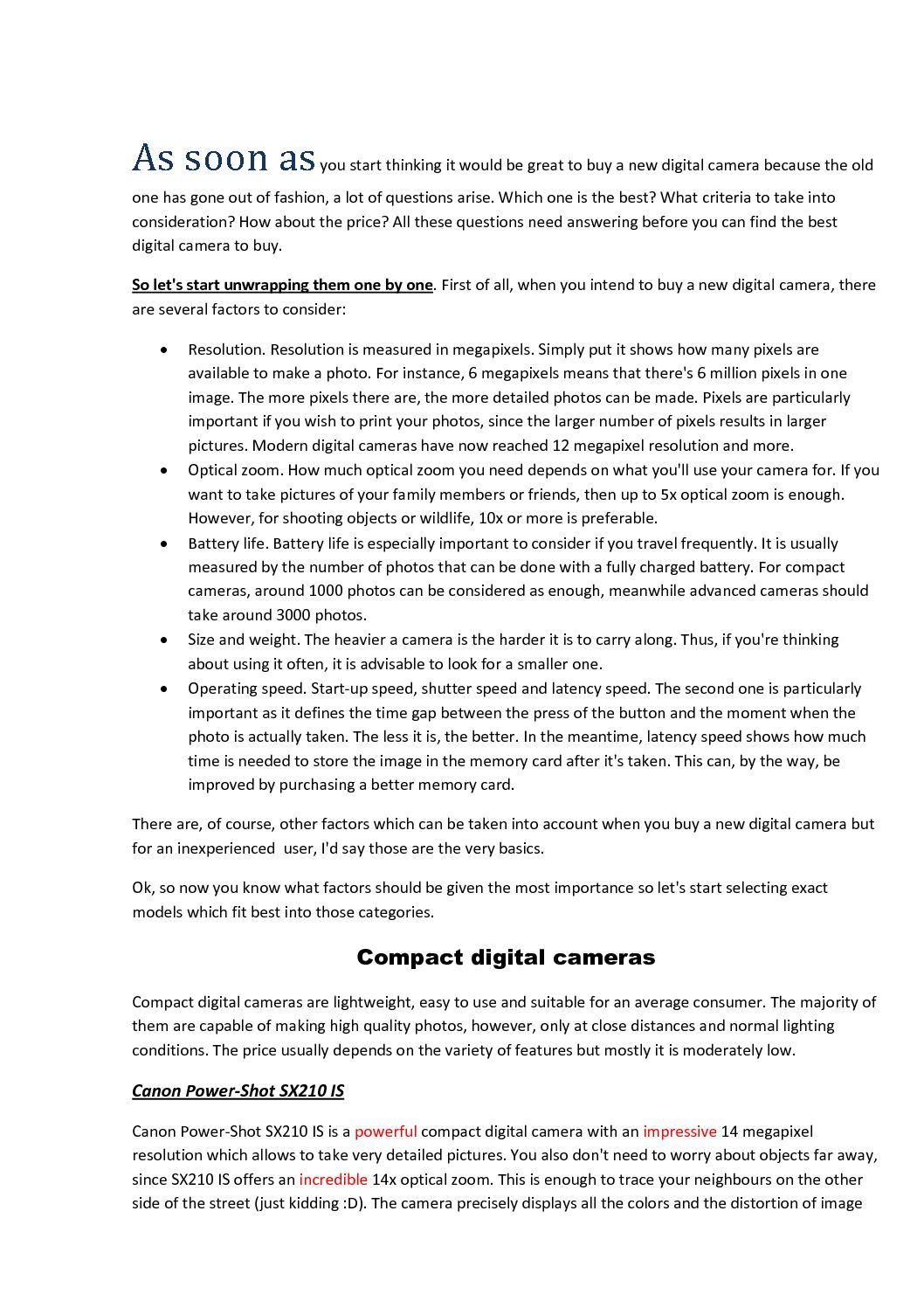 Calaméo - Digital Cameras Review