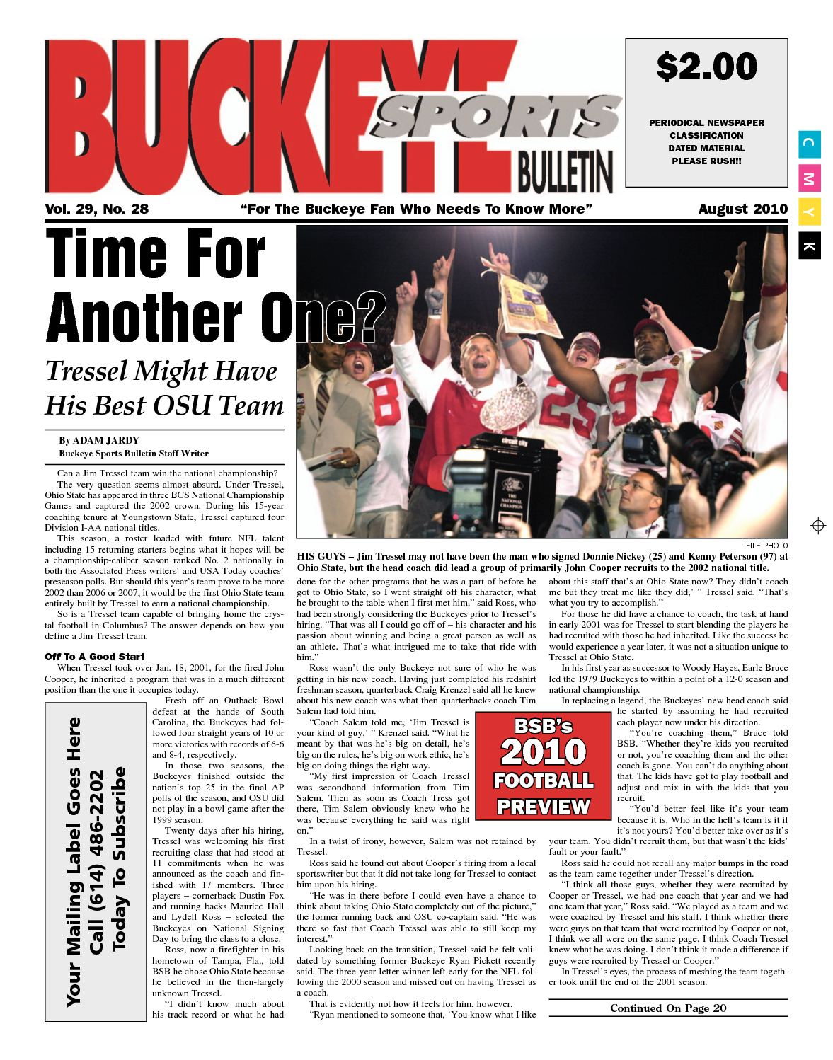 Calaméo Buckeye Sports Bulletin Football Preview Issue