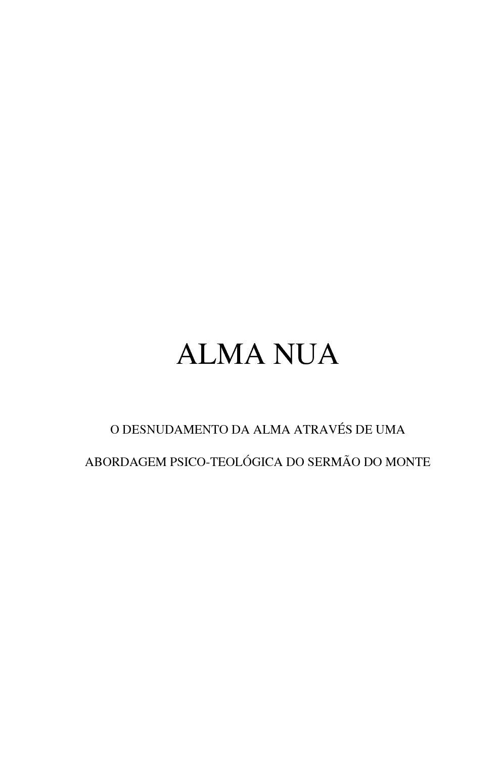 Alma Nua calaméo - ivênio dos santos - alma nua