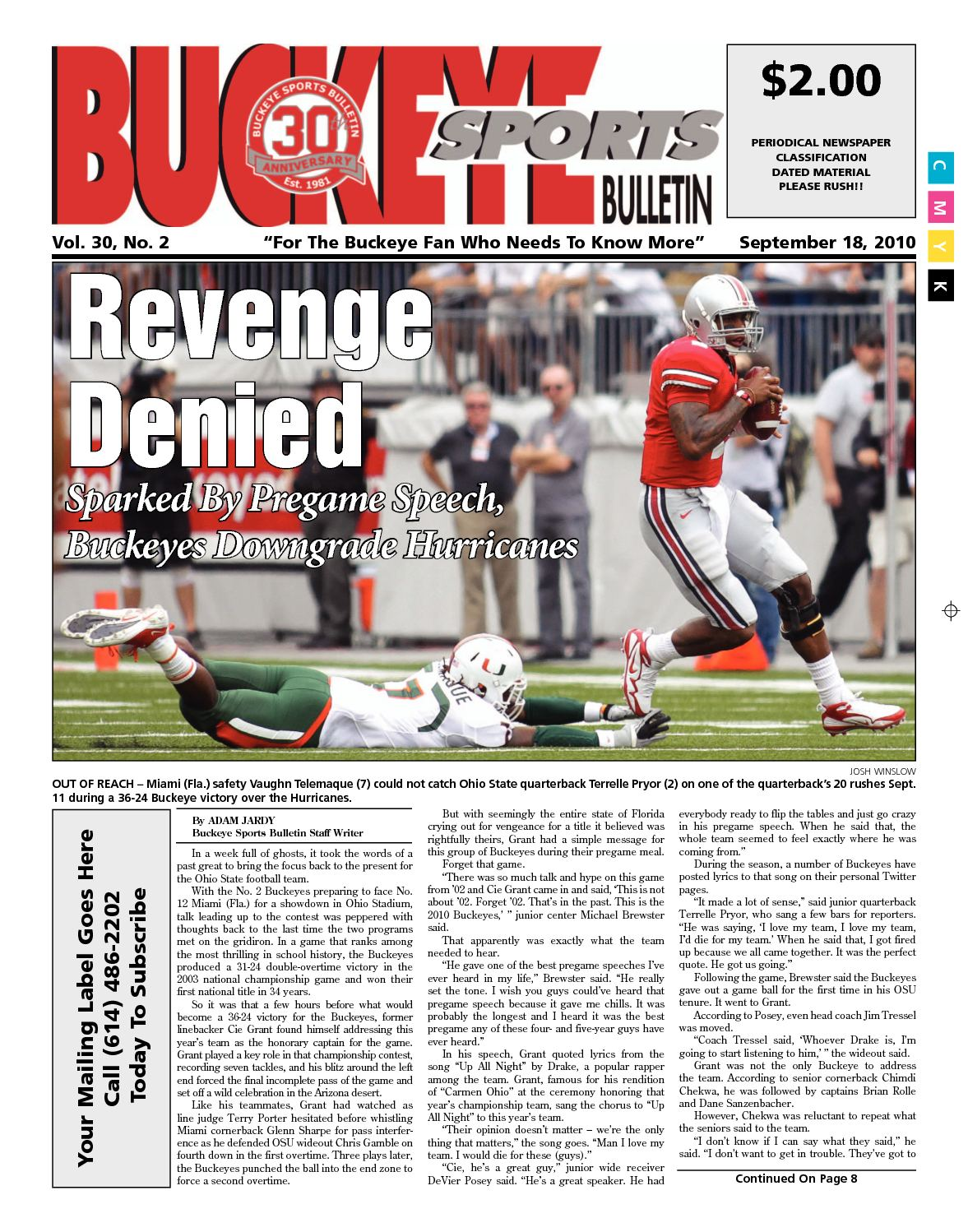 sale online best prices exclusive deals Calaméo - Buckeye Sports Bulletin September 18, 2010 Print Edition