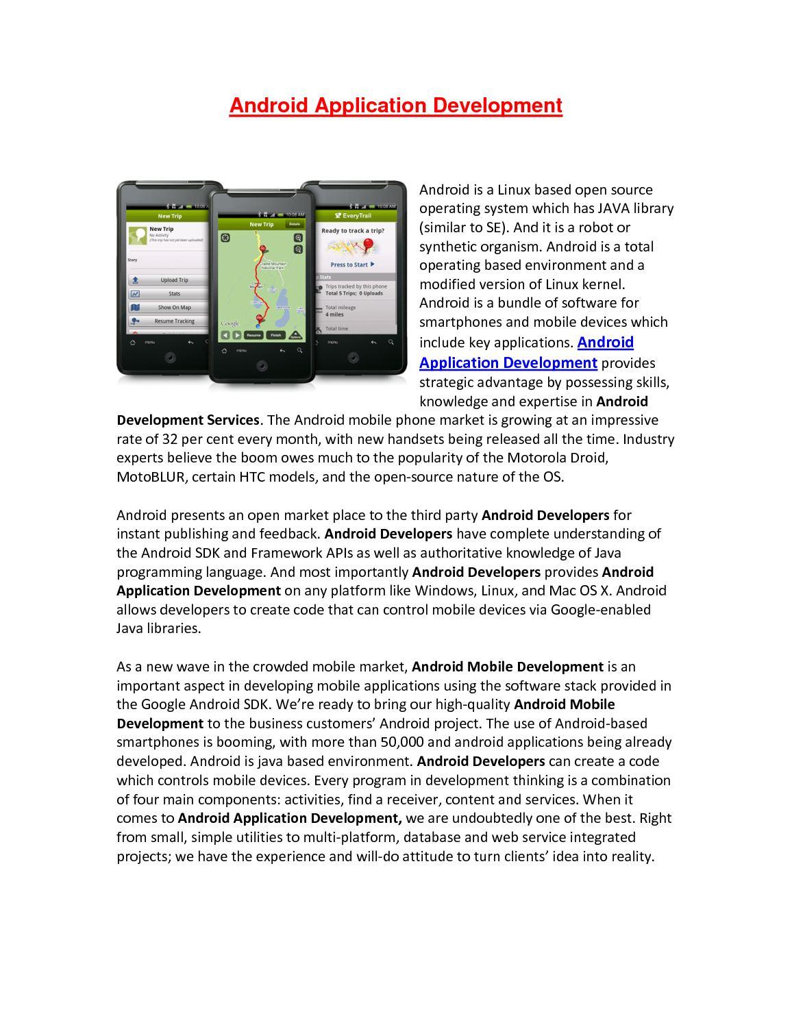 Calaméo - Android Application Development