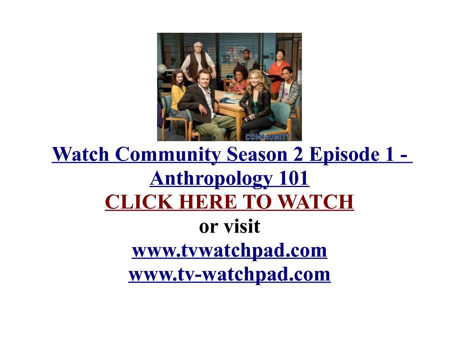Calaméo - Watch Community Season 2 Episode 1 - Anthropology 101