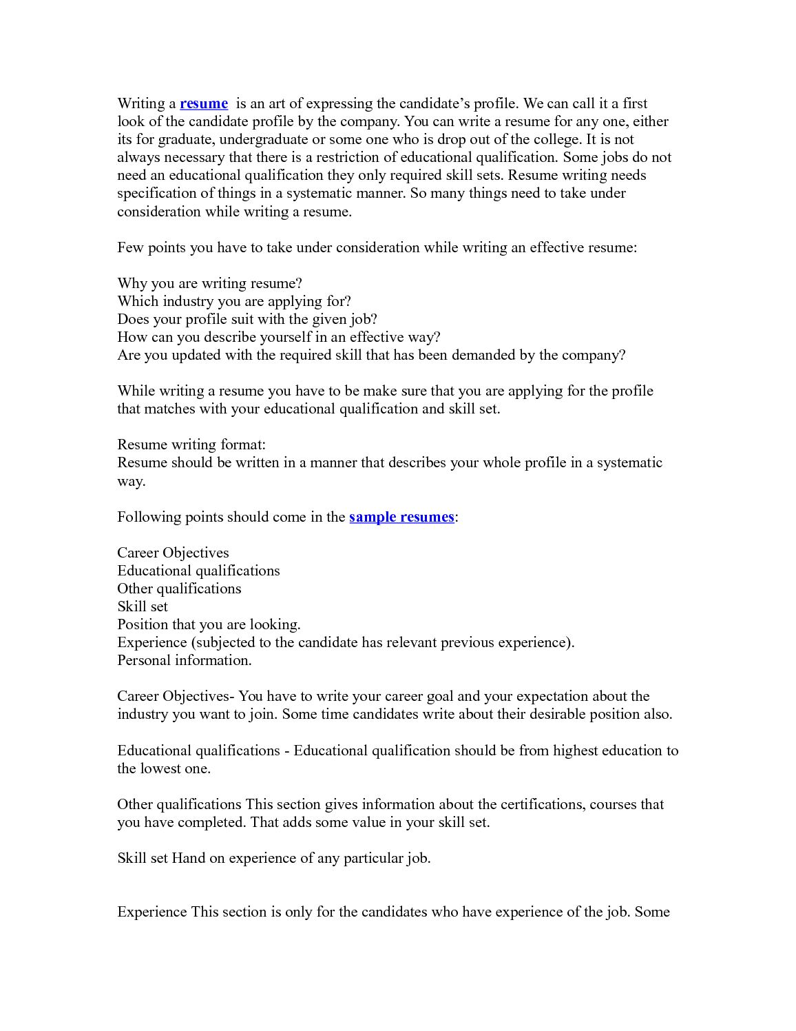 calaméo resume writing tips