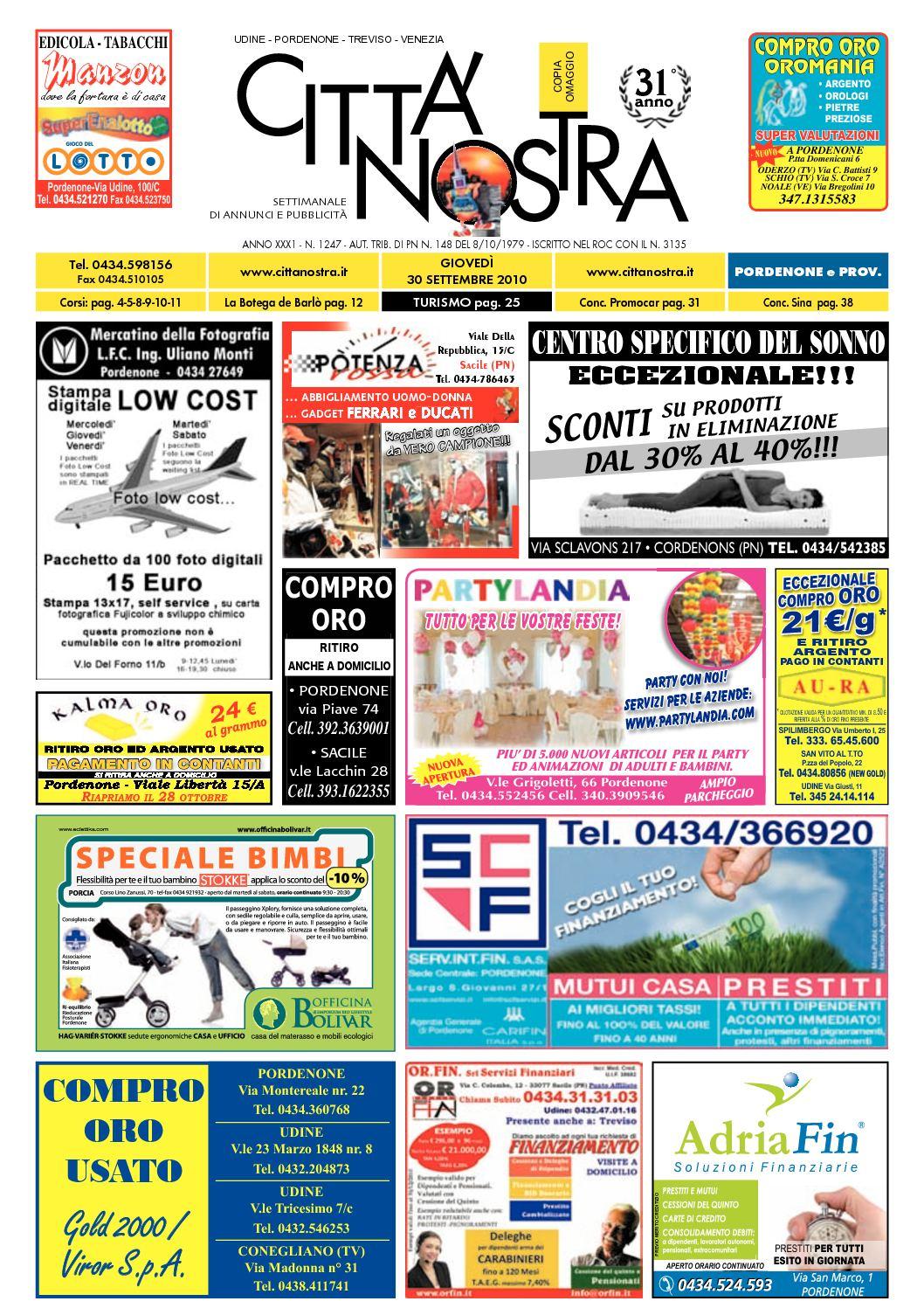 2010 Nostra Del Calaméo Pordenone 09 30 Città N1247 92IDEWH