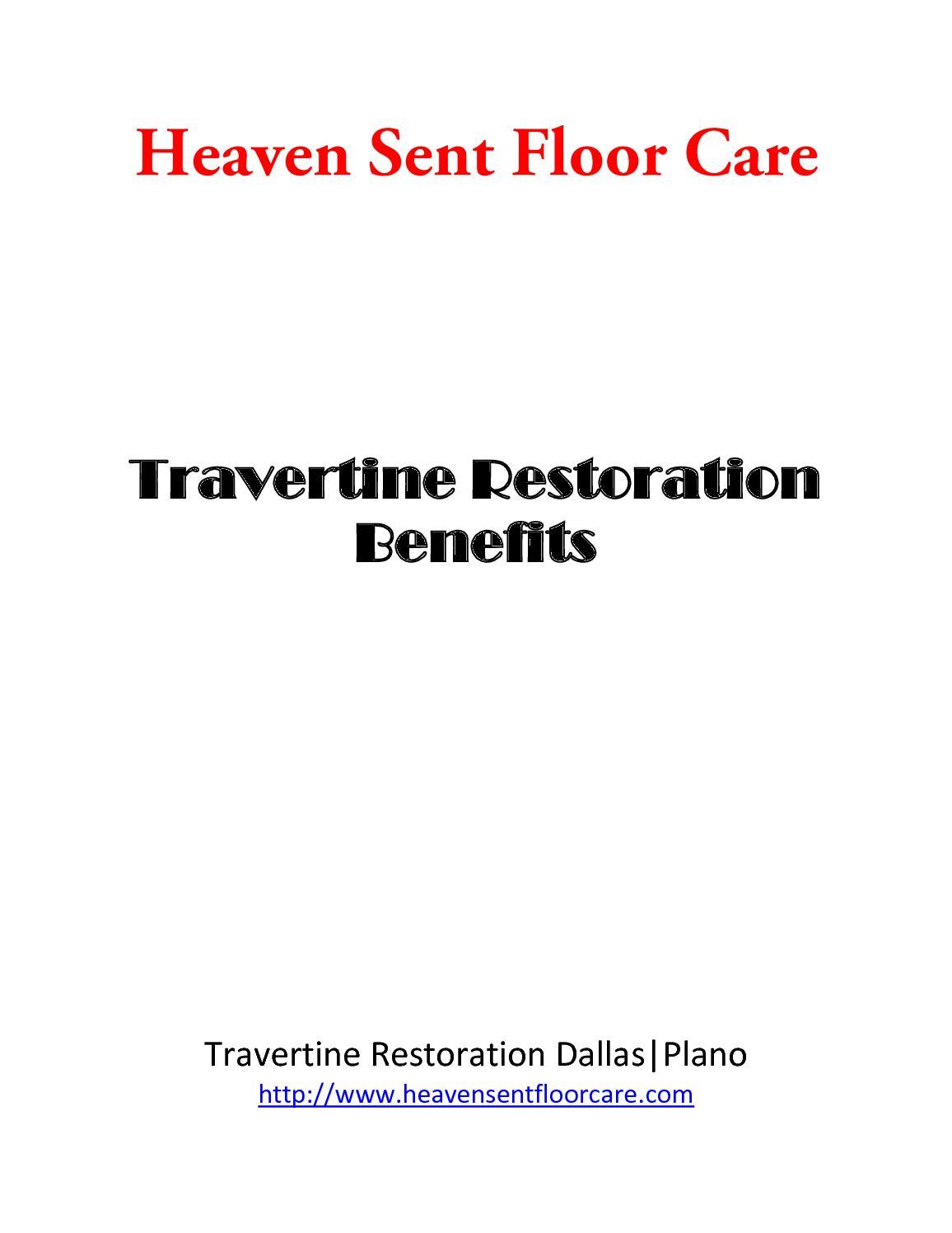 Calaméo - Travertine Restoration Dallas|Plano