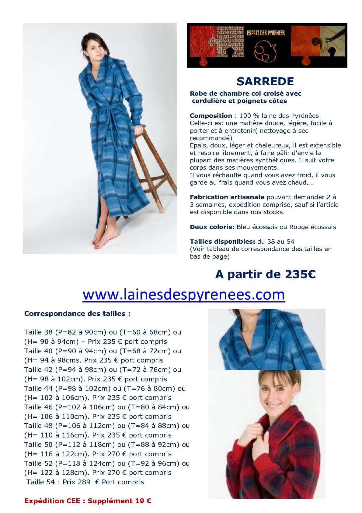 Calameo Robe De Chambre En Laine Des Pyrenees Pour Femme Modele Sarrede