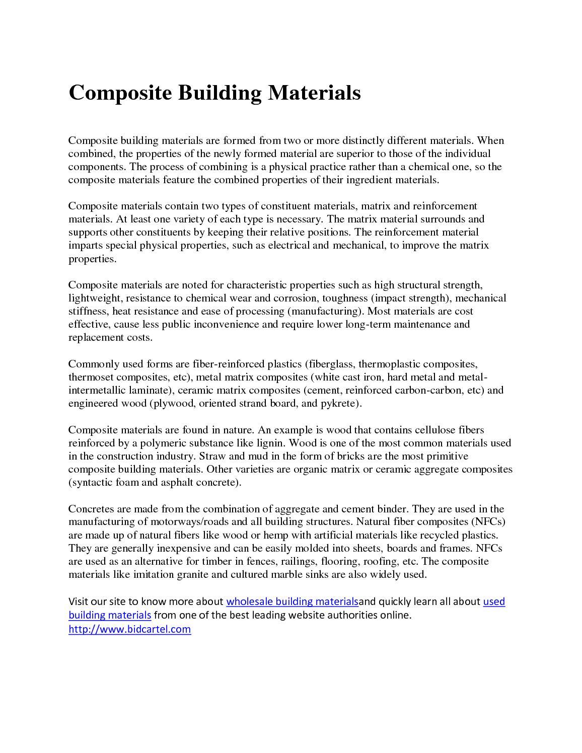 Calaméo - used building materials