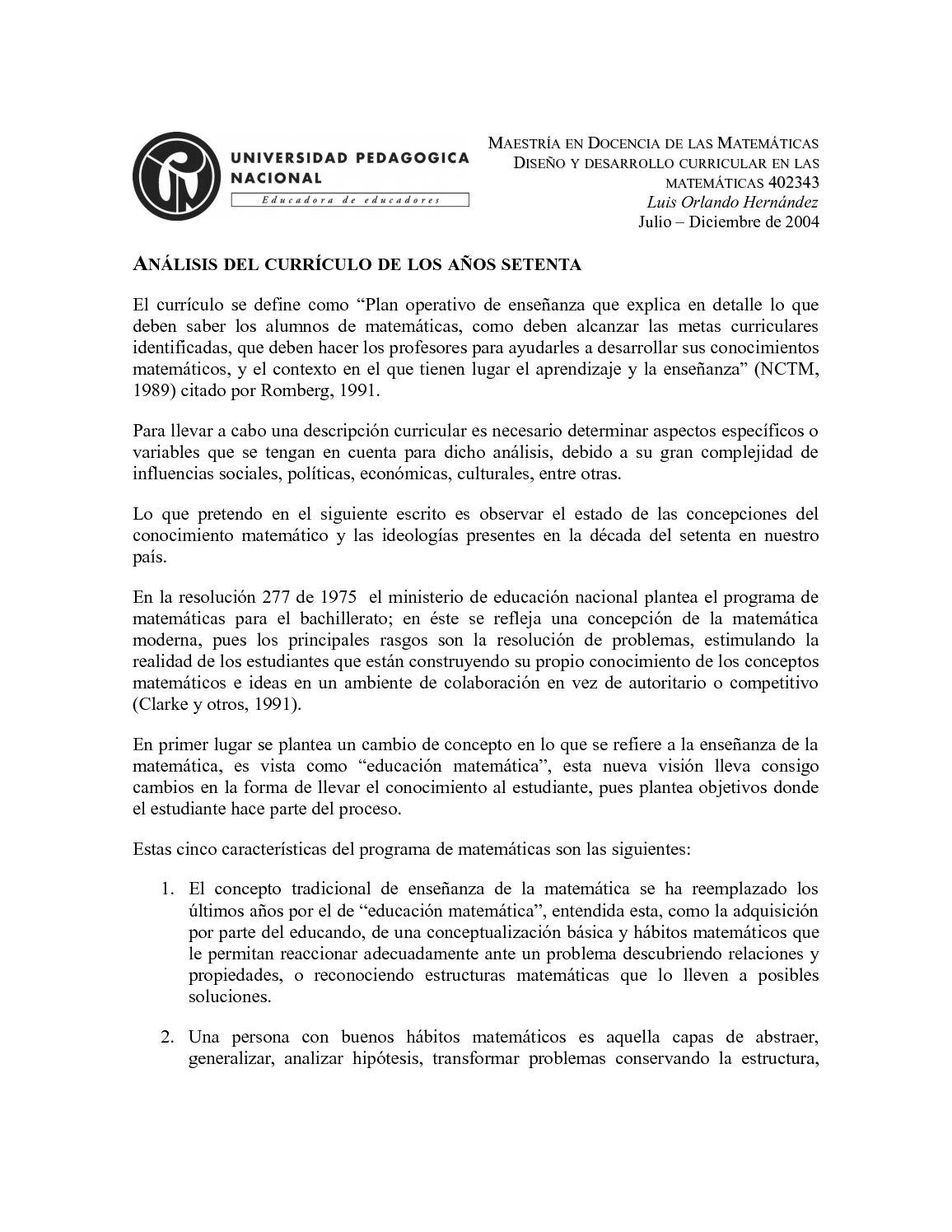 Calaméo Analisis Del Curriculo