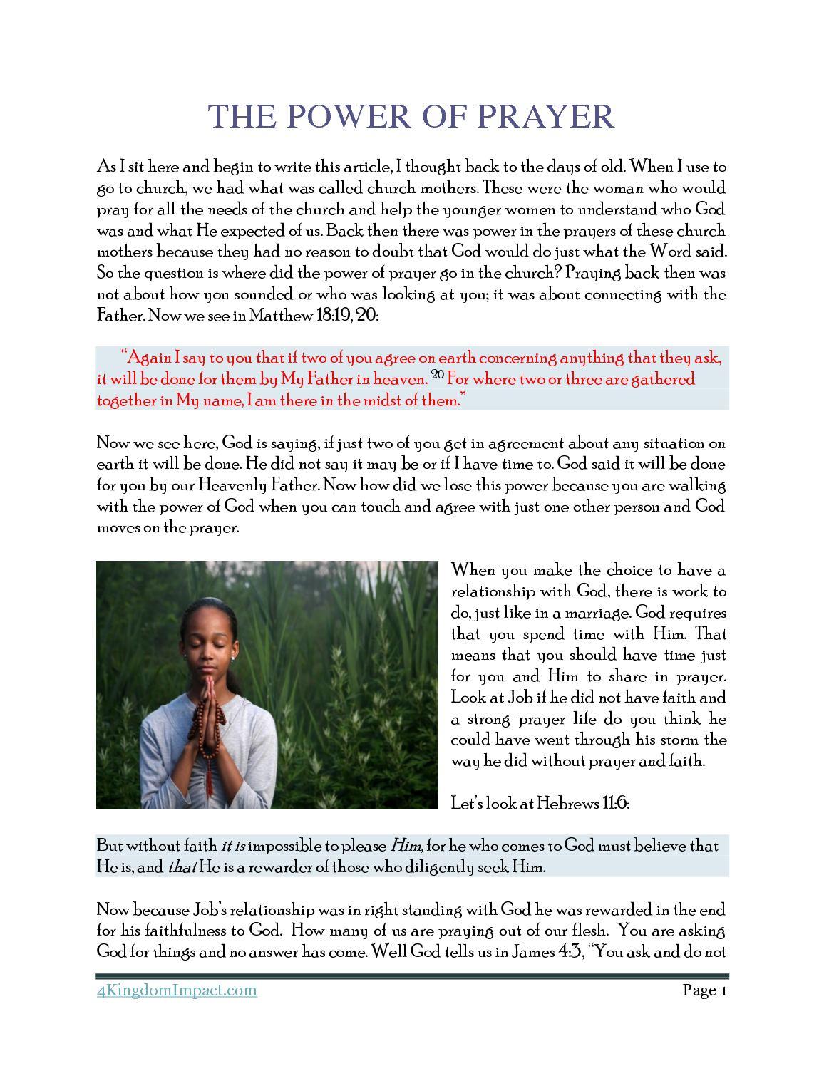 Calaméo - The Power of Prayer