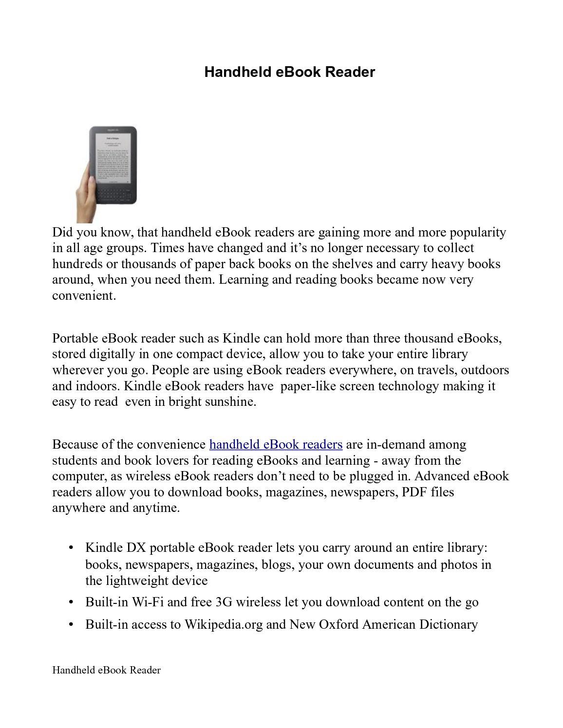 Calaméo - Handheld eBook Reader