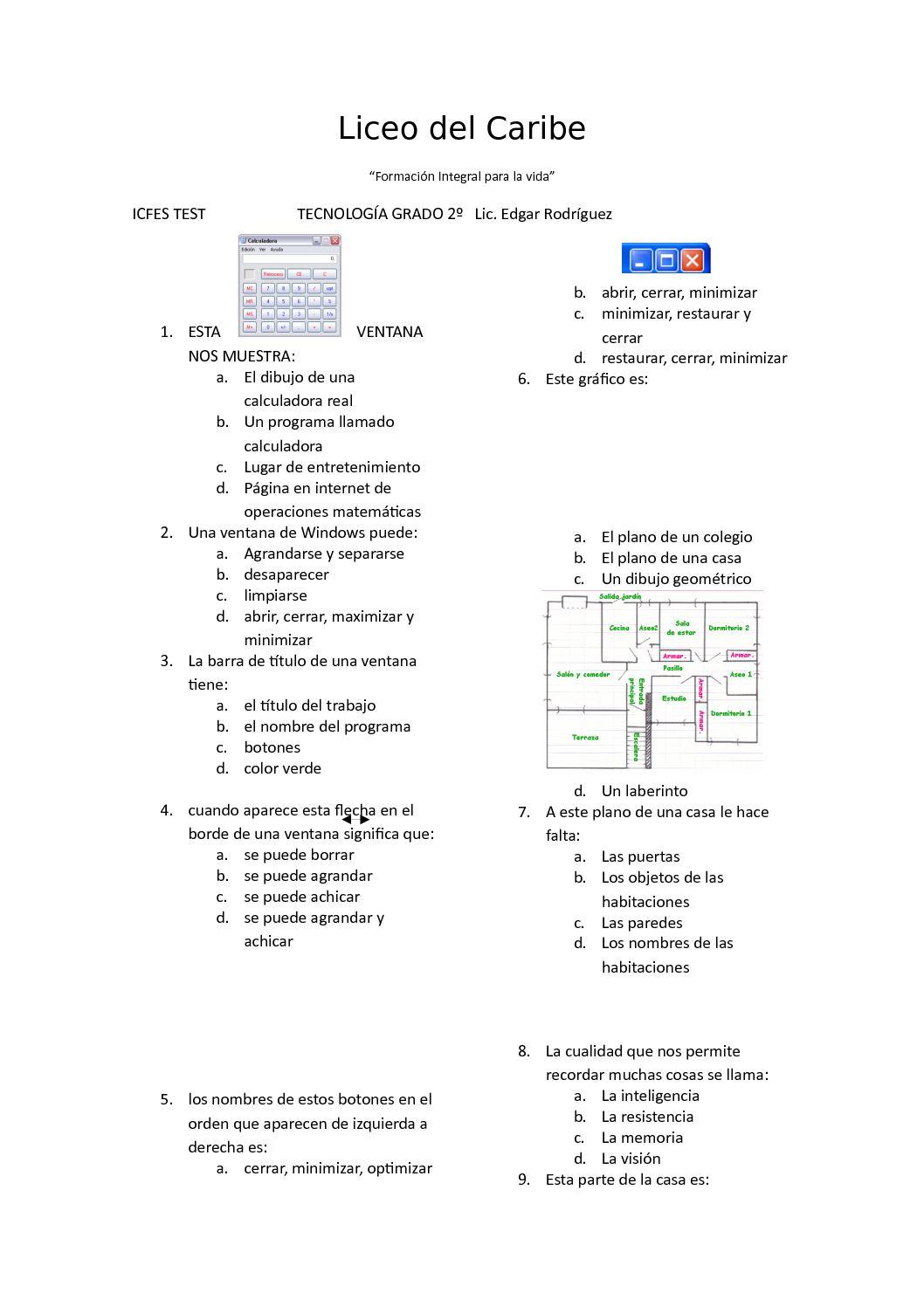 agrandar una ventana de casa Calamo Liceo Del Caribe Evaluacion Segundo 4p