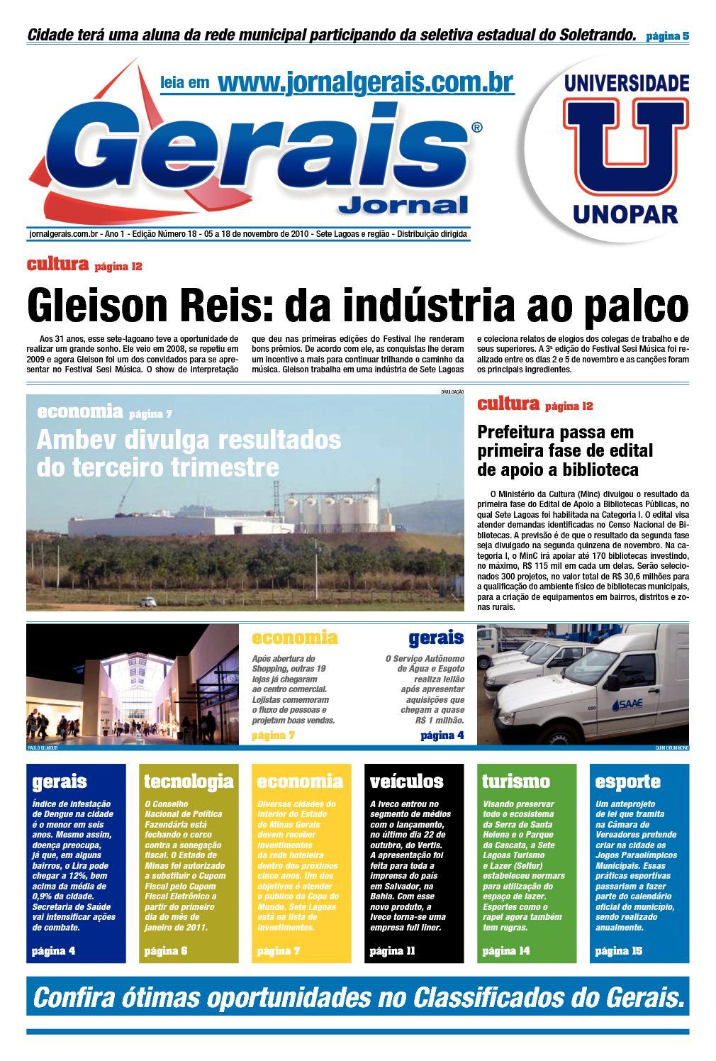 26cfe44246 Calaméo - Gerais Jornal    Ano 1    Edição Número 18    05 a 18 de novembro  de 2010