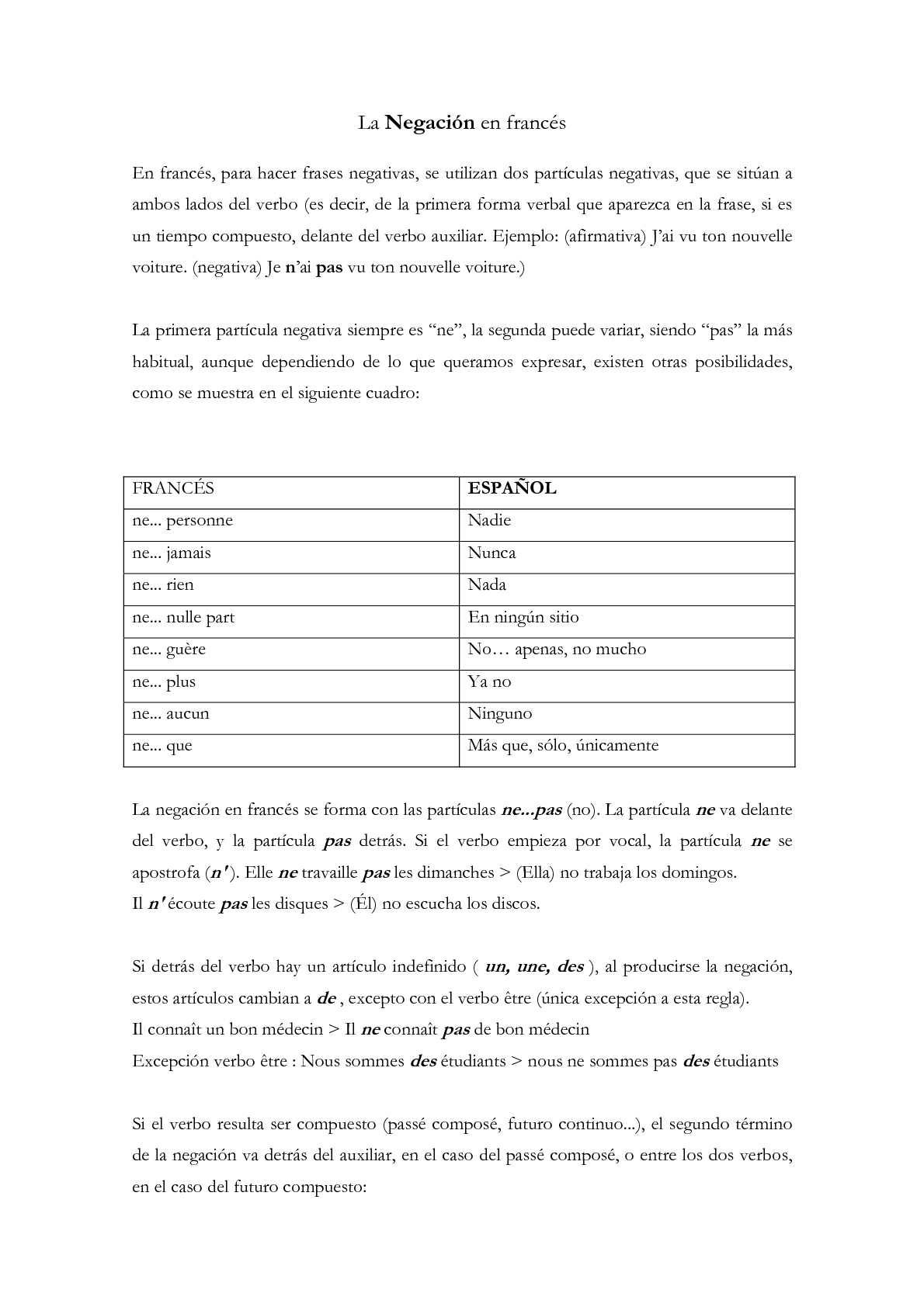 Calaméo Negación En Francés