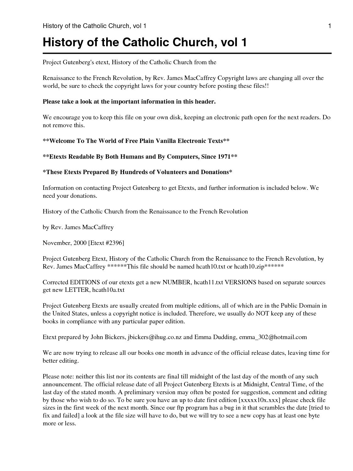Calaméo - J  MacCaffrey - History of the Catholic Church, Vol 1