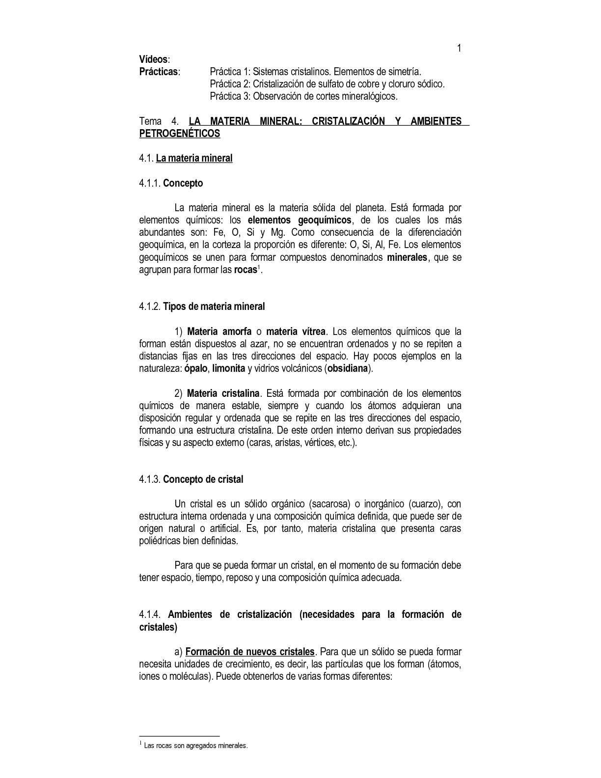 Calaméo Tema 04 La Materia Mineral Cristalización Y