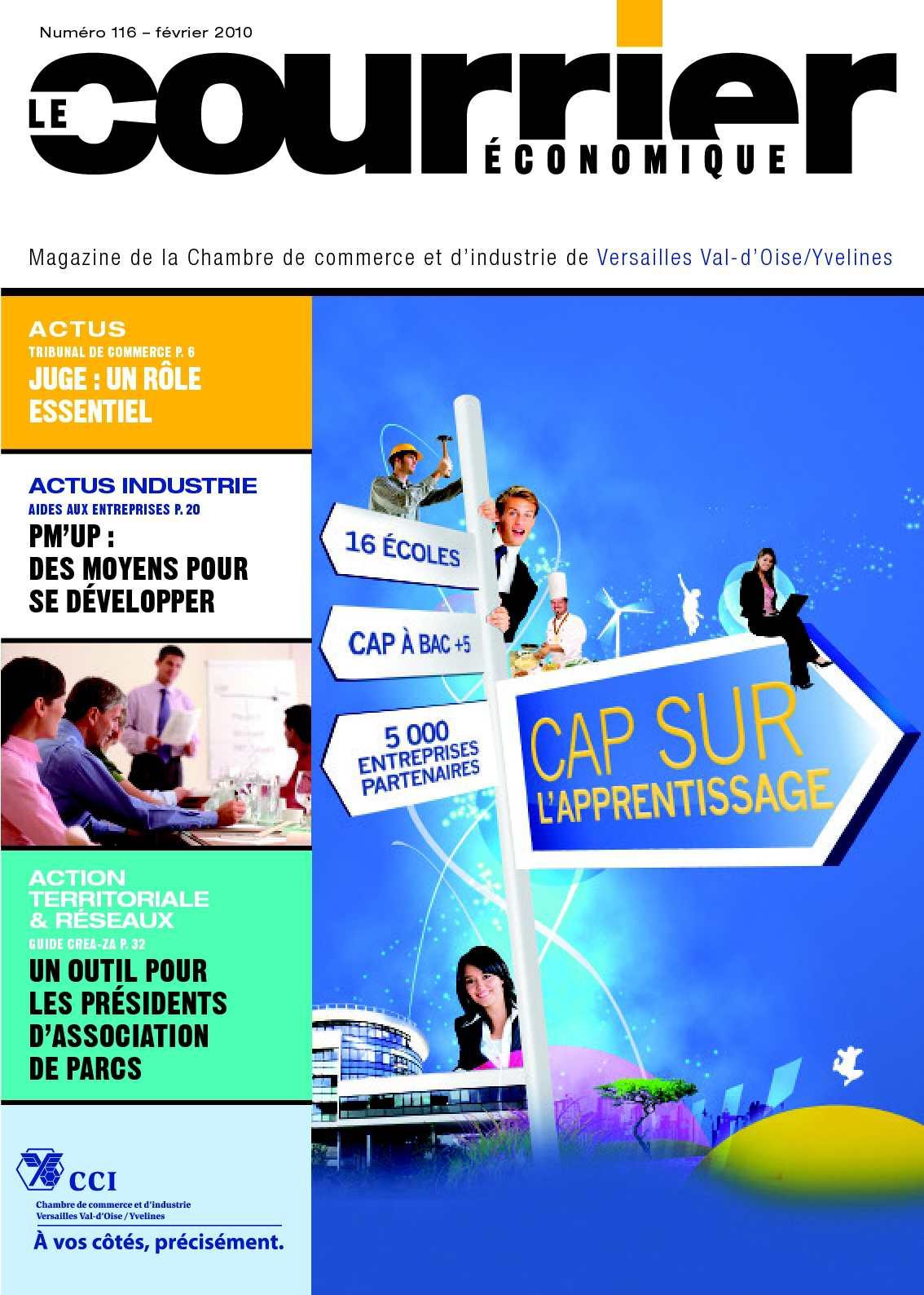 Calam o le courrier cononomique magazine de la cci val d 39 oise yvelines n 116 f vrier 2010 - Chambre de commerce de pontoise ...