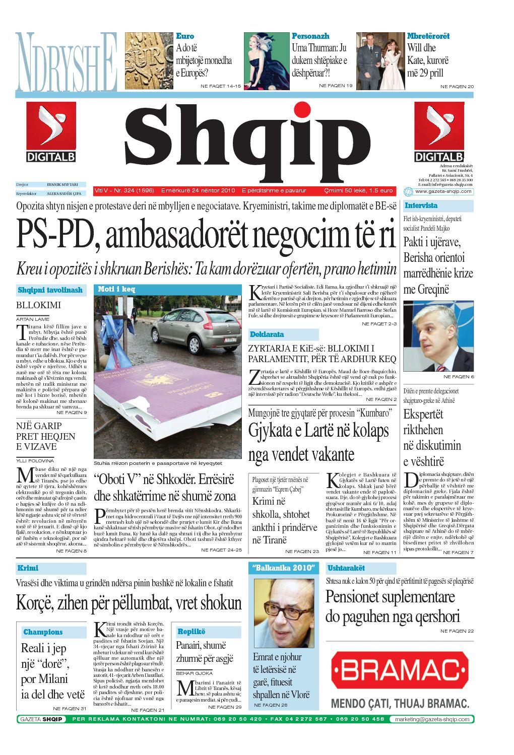 Calaméo - 24 11 2010 Gazeta Shqip
