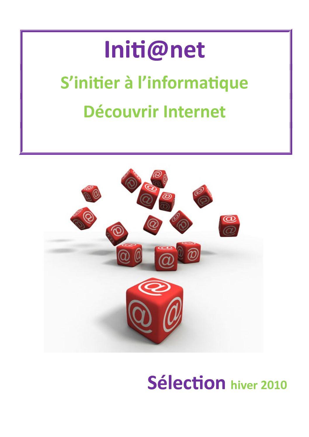 Initi@net s'initier à l'informatique découvrir Internet