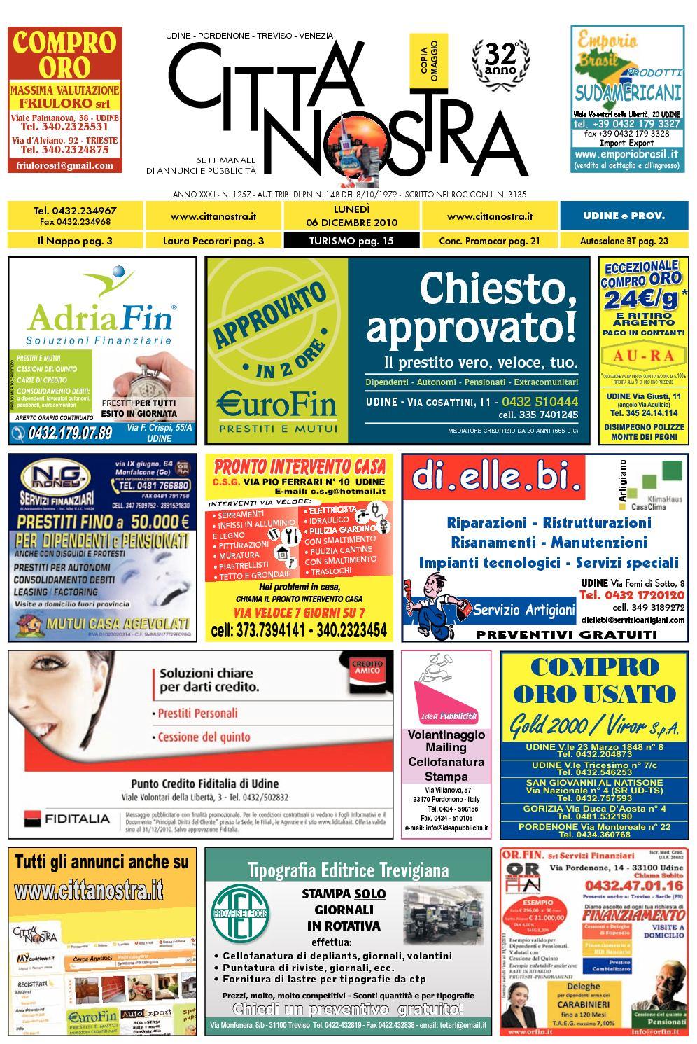 Calaméo - Città Nostra Udine del 06.12.2010 n. 1257 39324fa914a