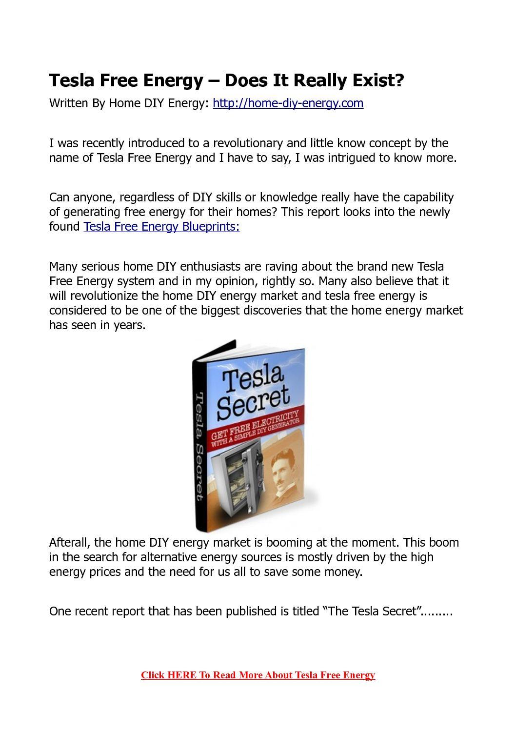 Tesla Free Energy >> Calameo Tesla Free Energy