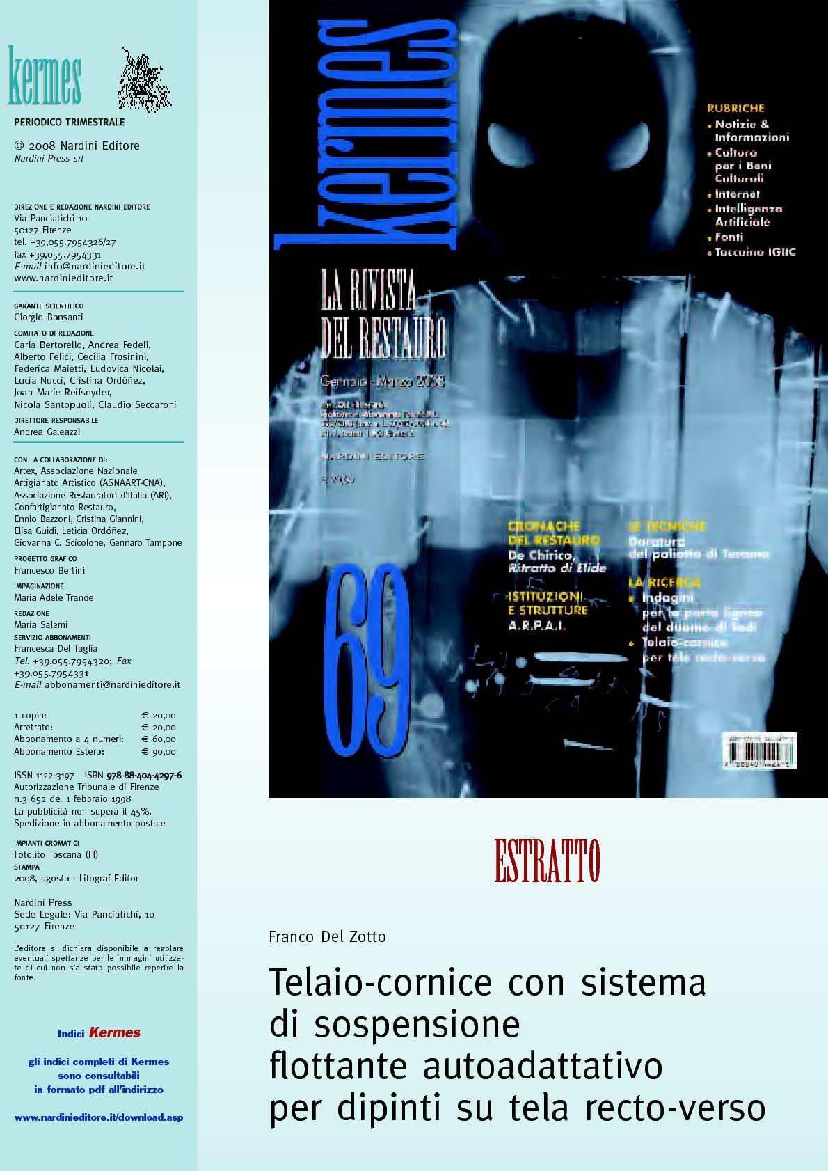 Del Zotto Torino Cornici.Calameo Telaio Cornice Con Sistema Di Sospensione Flottante