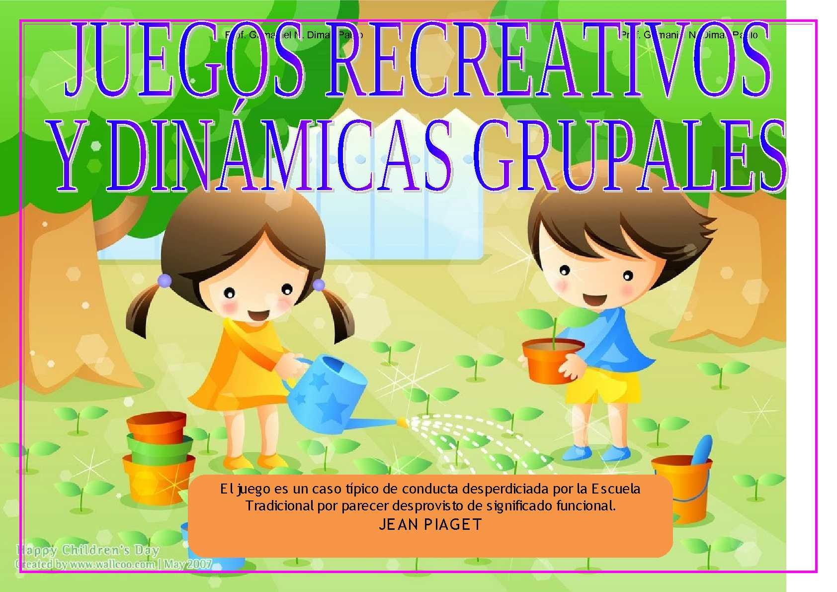 Calameo Juegos Recreativos Y Dinamicas Grupales