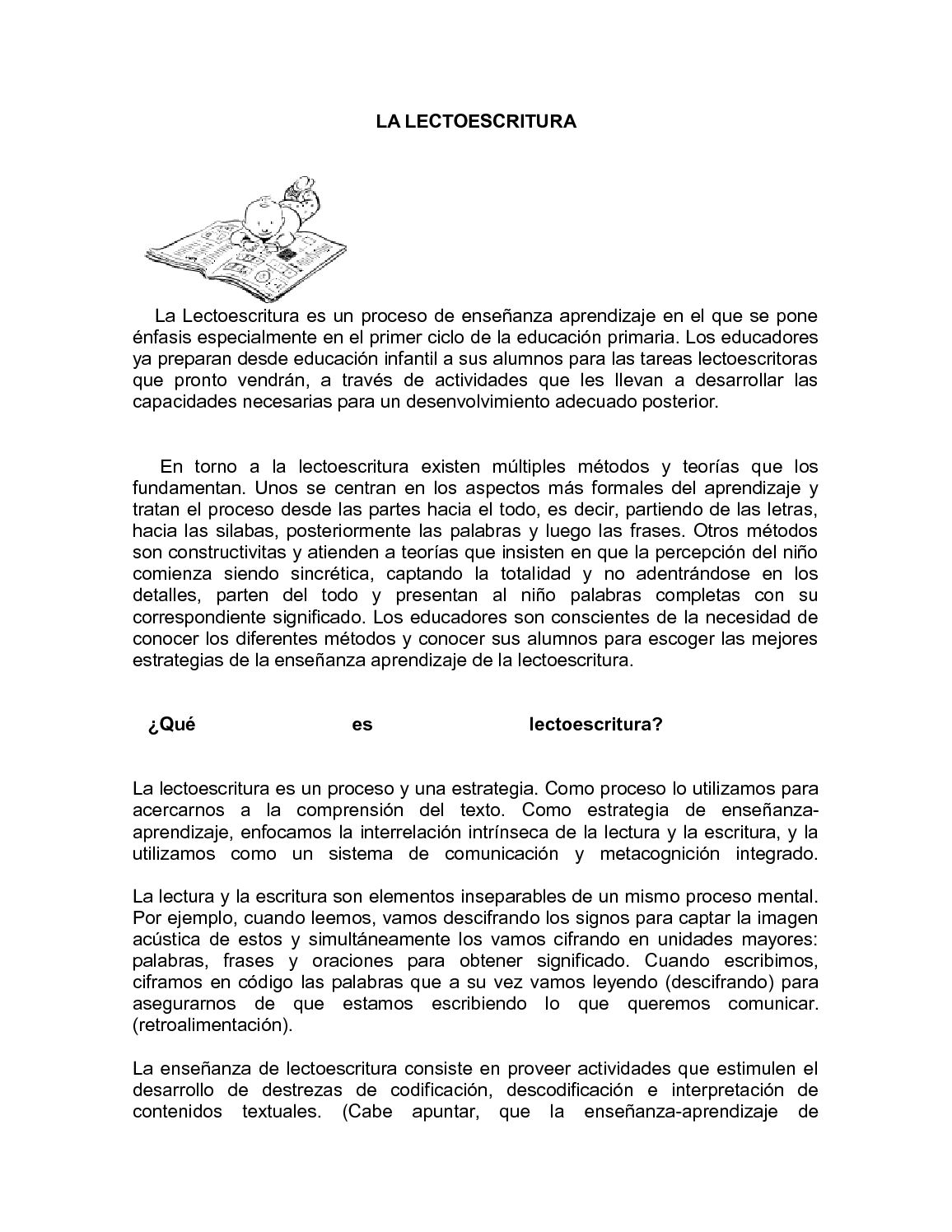 Calaméo La Lectoescritura