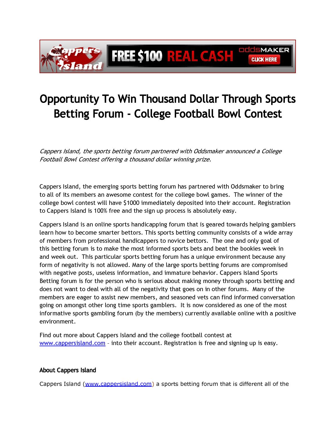 College football forums betting on sports bitcoins redit