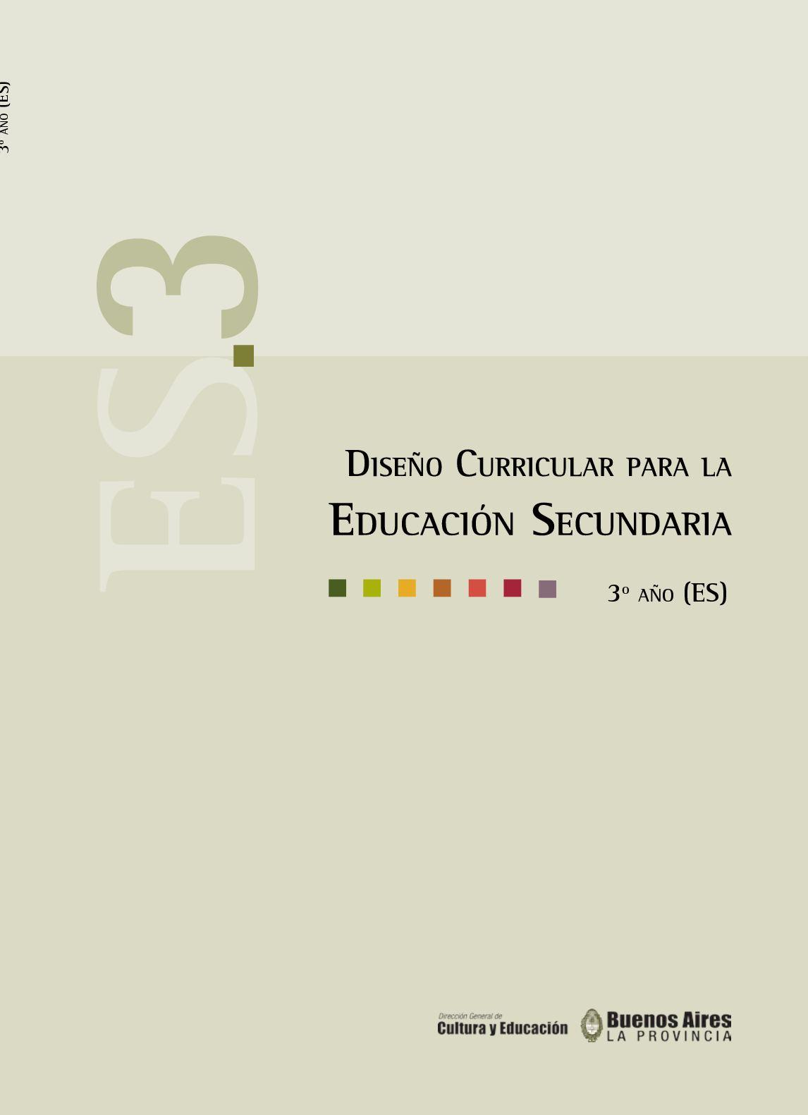 Calaméo Diseño Curricular Secundaria 3º Año