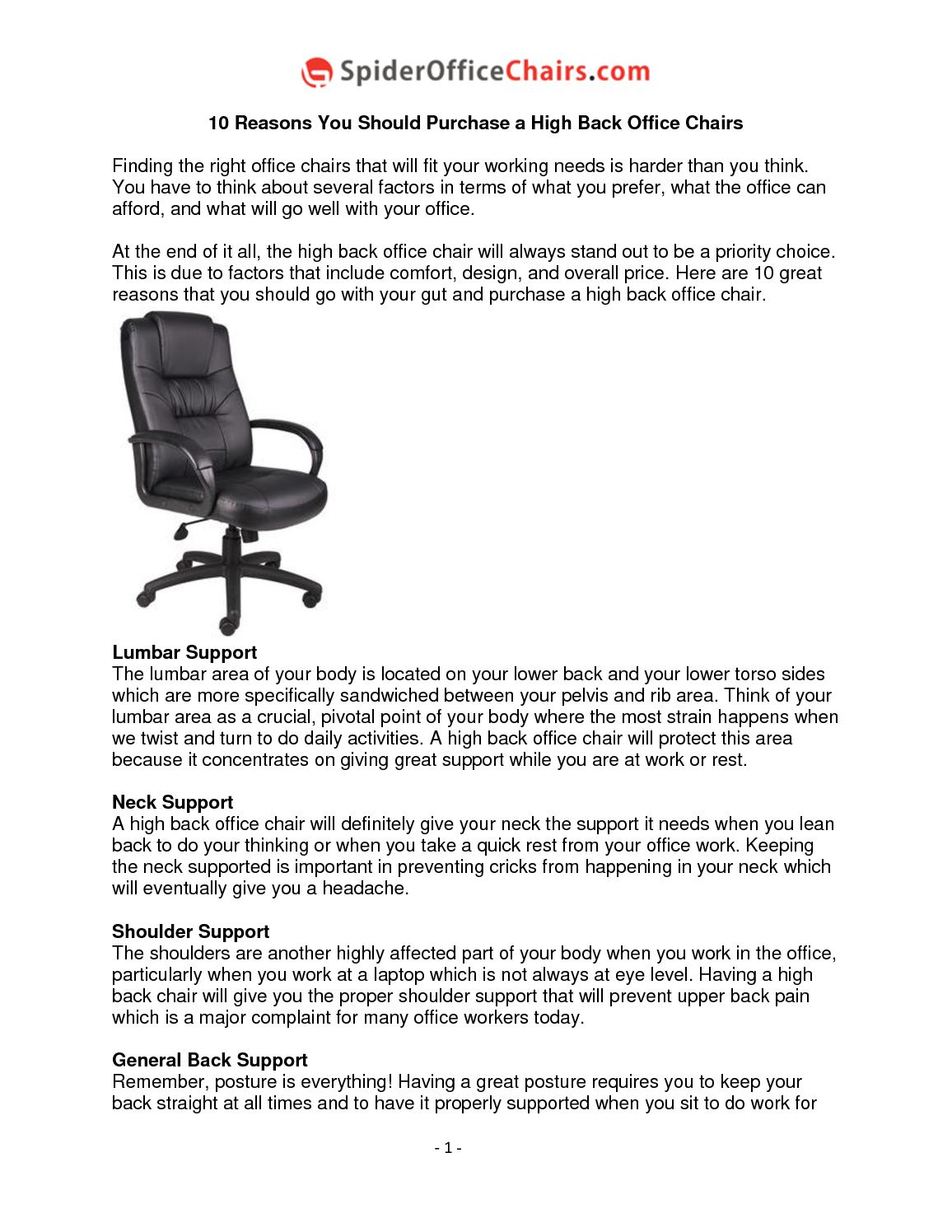 Calameo 10 Reasons You Should Purchase A High Back Office Chairs