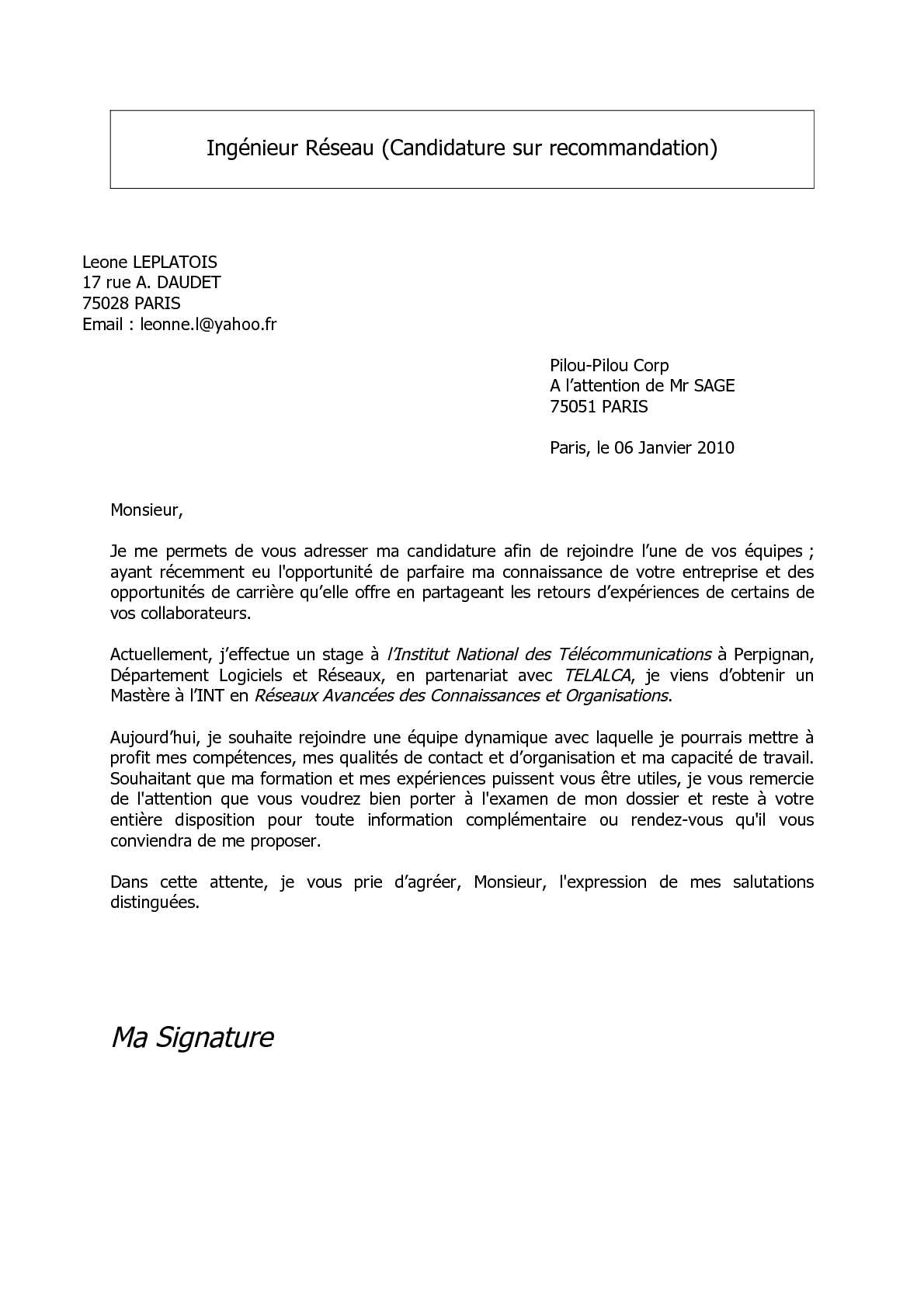 calam u00e9o - lettre motivation cyber orange