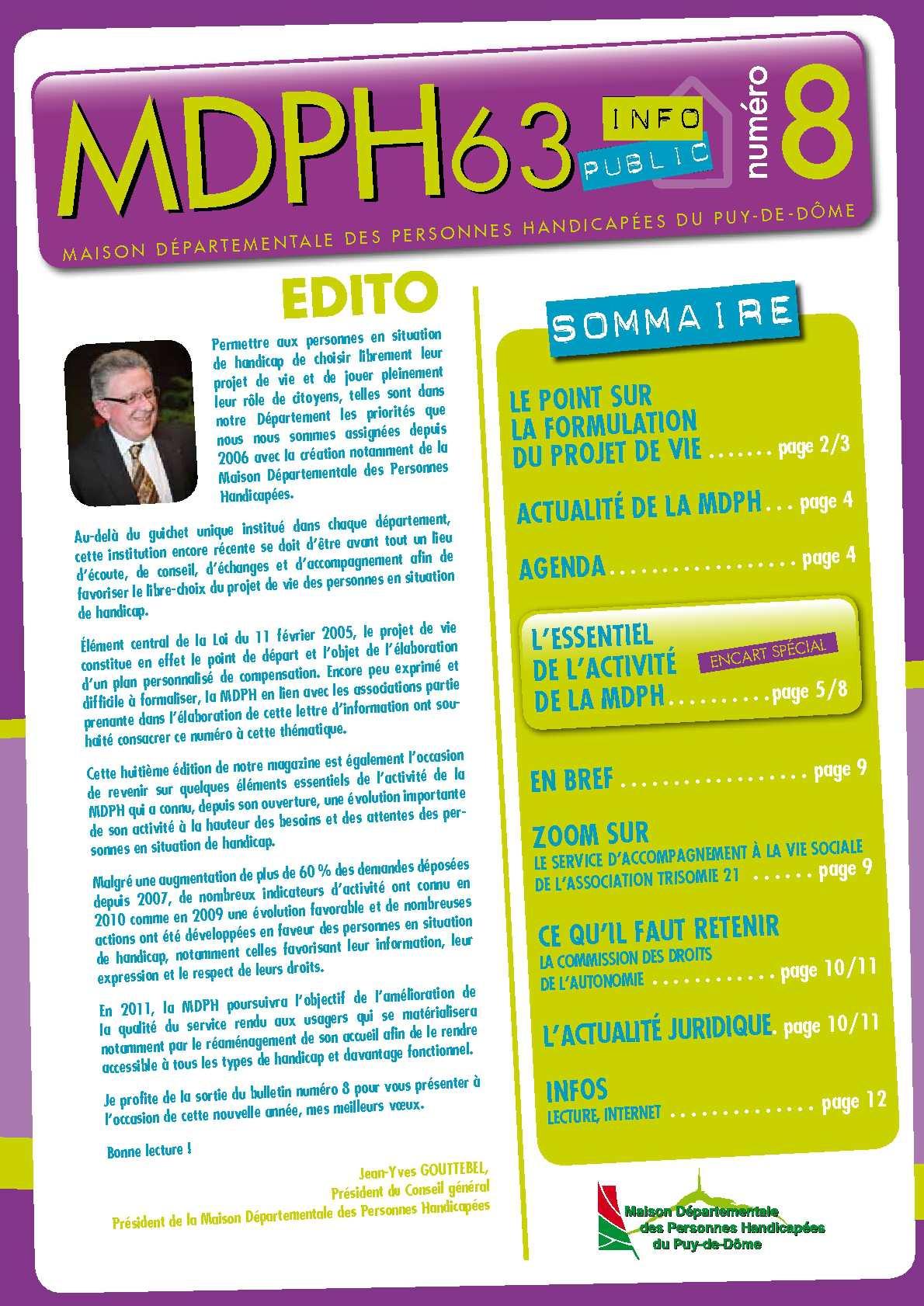 Calaméo Lettre D Information N 8 De La Mdph 63