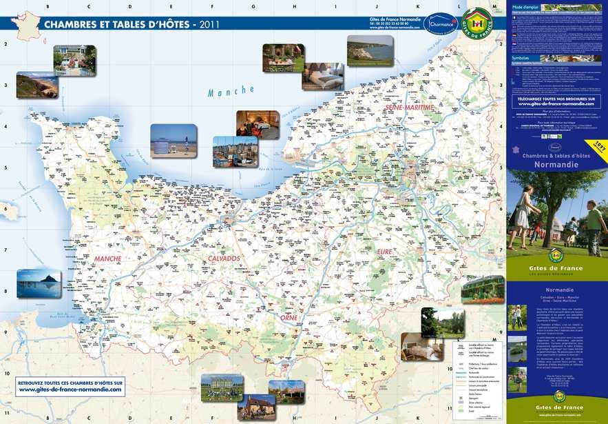 Calam o carte des chambres d 39 h tes 2011 en normandie - Chambres d hotes autour de colmar ...