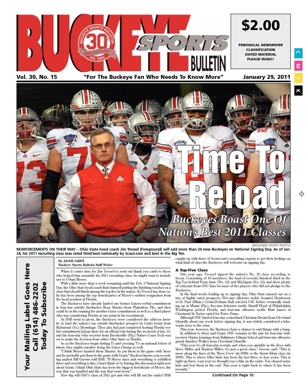 Calaméo Buckeye Sports Bulletin January 29 2011 Print Edition