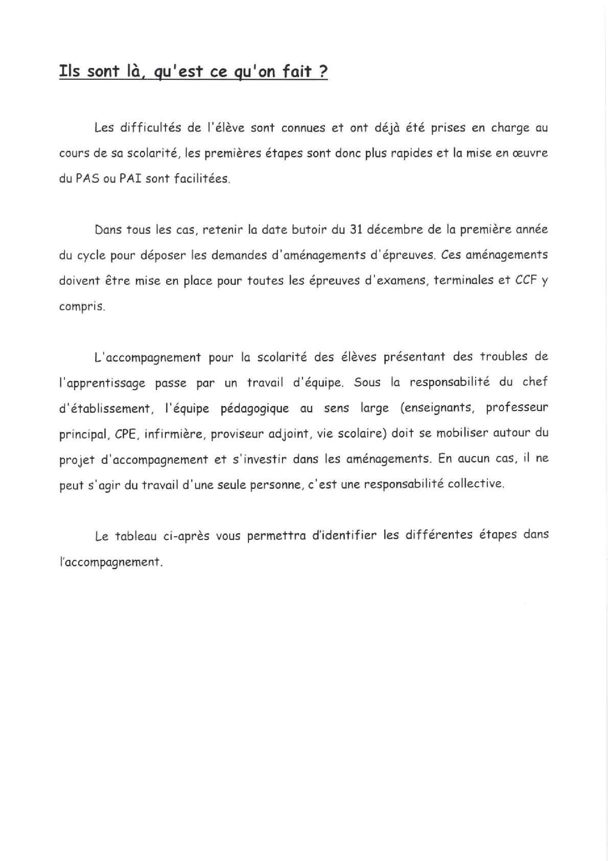 Guide D Accompagnement De La Scolarité Des élèves Présentant