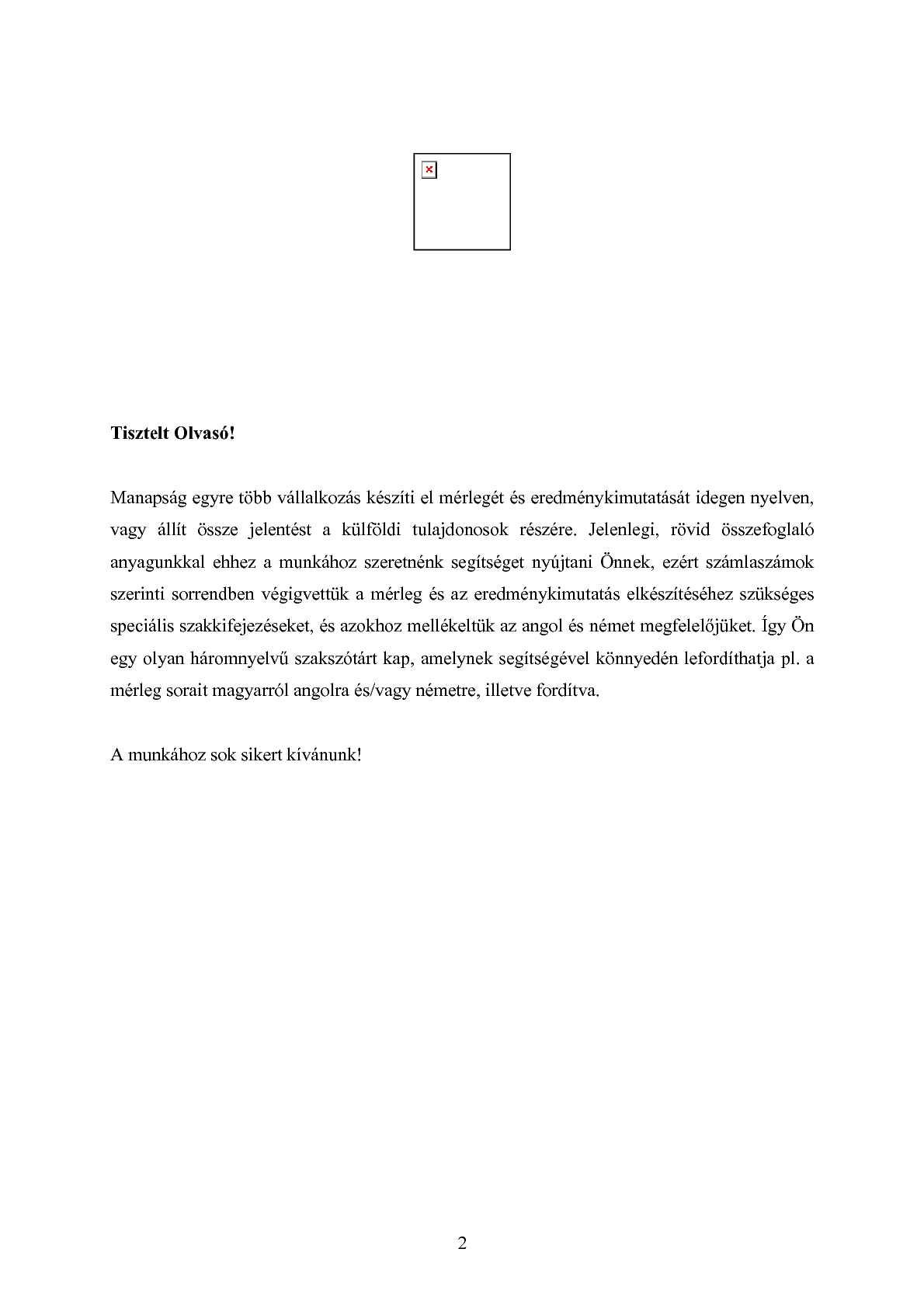 Magyar-angol-német szótársegédlet a beszámoló összeállításához ... 844ac0d785