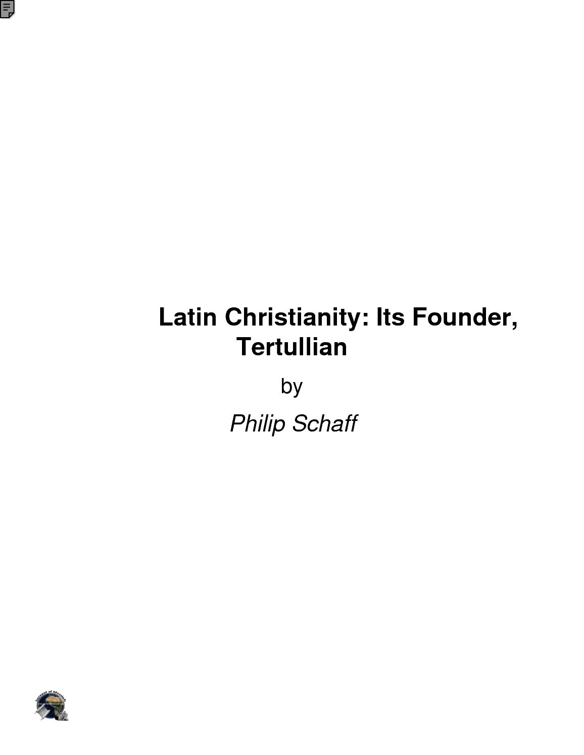 Calaméo - Christianity Its Founder Tertullian_new