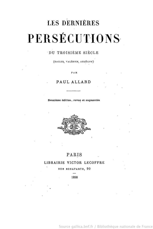 Périmètre Du Mur D Aurélien calaméo - histoire des persecutions: les dernières