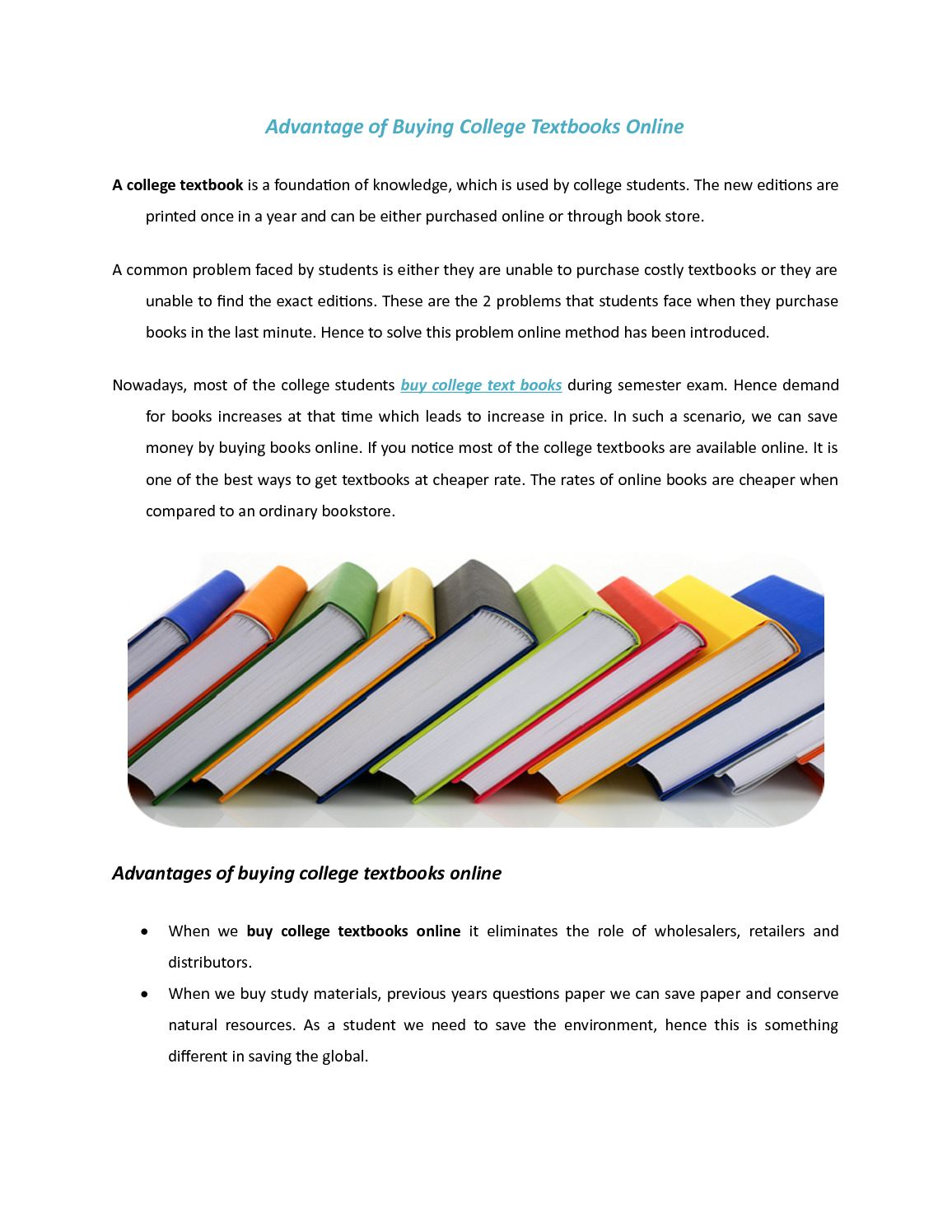 Used College Textbooks >> Calameo Advantage Of Buying College Textbooks Online