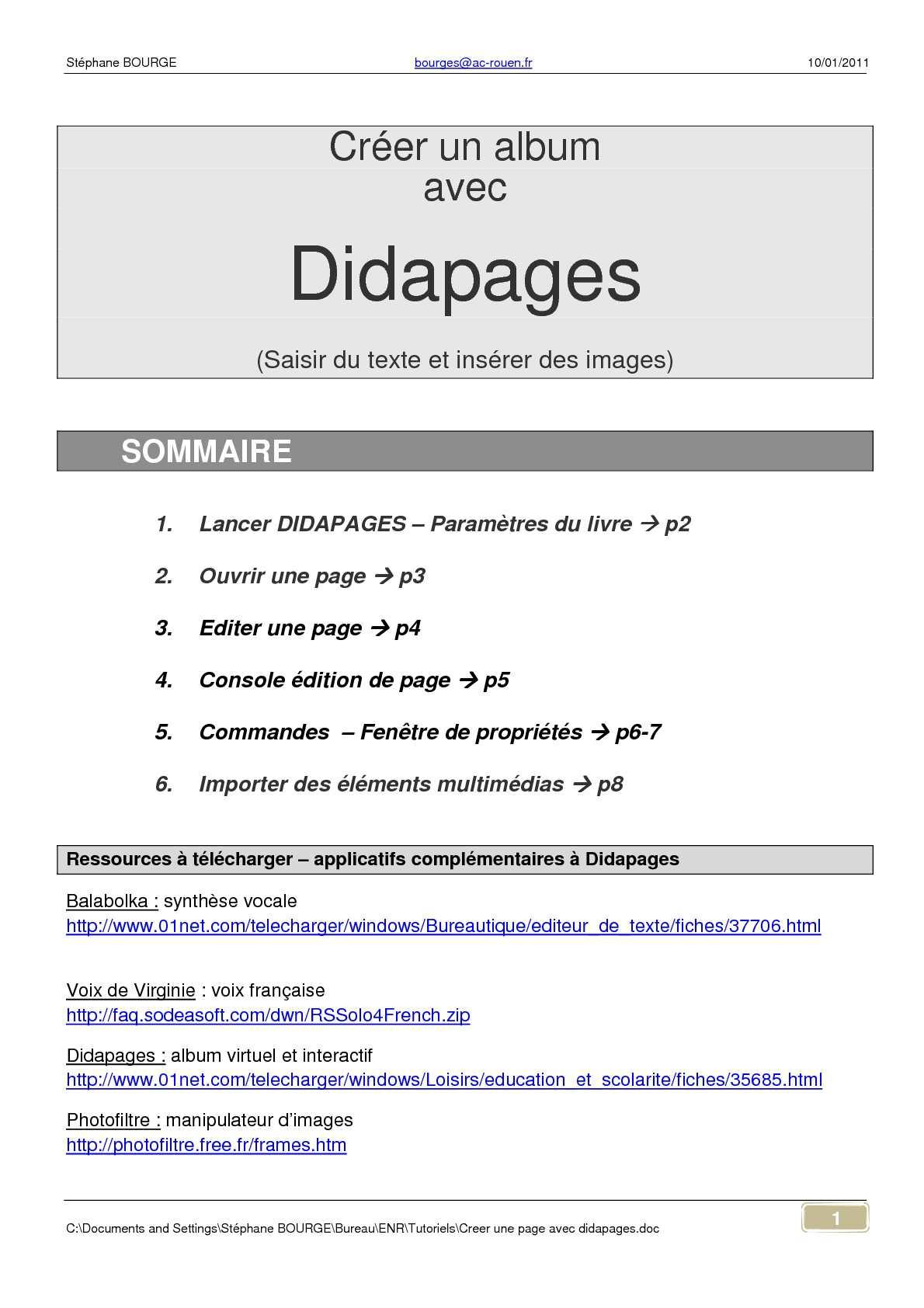 DIDAPAGES 2 TÉLÉCHARGER