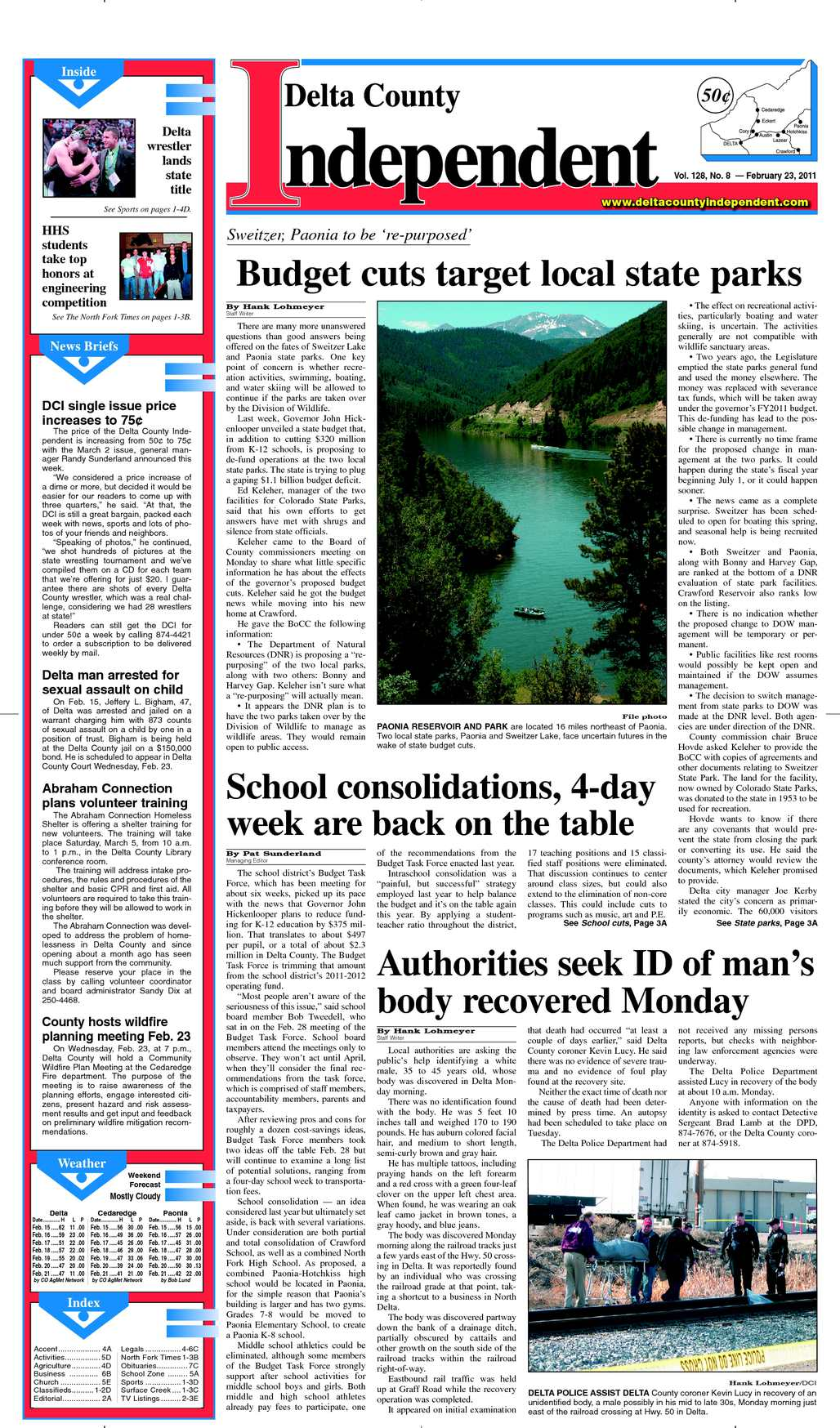 Calaméo - Delta County Independent, Issue 8, Feb  23, 2011