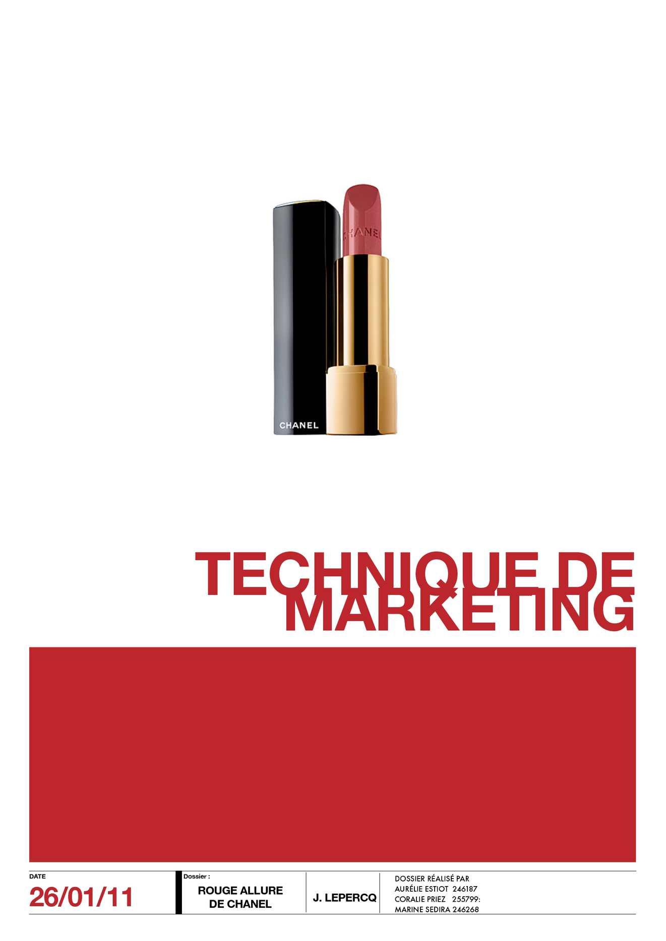 Calaméo - Dossier Allure de Chanel - Technique de Marketing ee5ba42b4c8