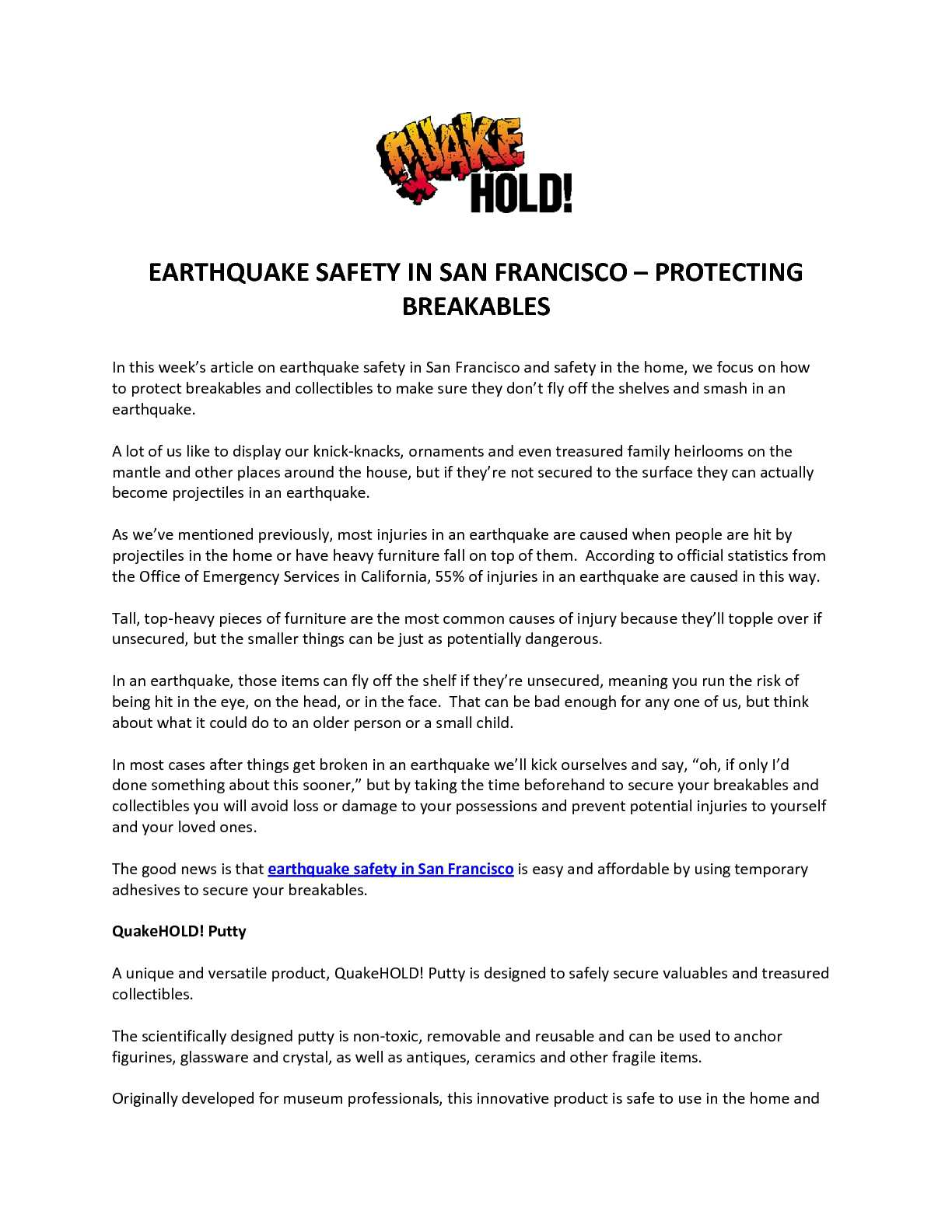 Calaméo   EARTHQUAKE SAFETY IN SAN FRANCISCO – PROTECTING BREAKABLES