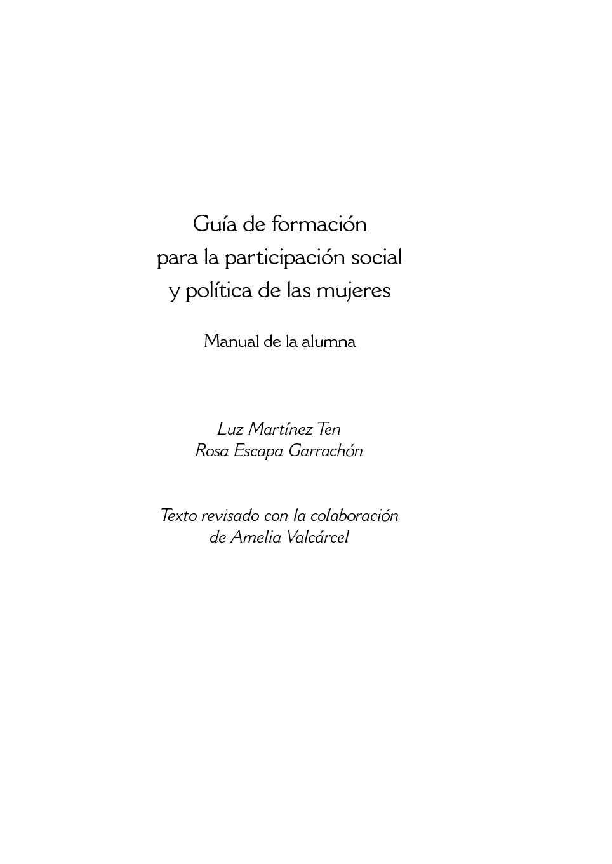 Calaméo - Guía de formación para la participación social y política de las  mujeres 6ed2dd009aa