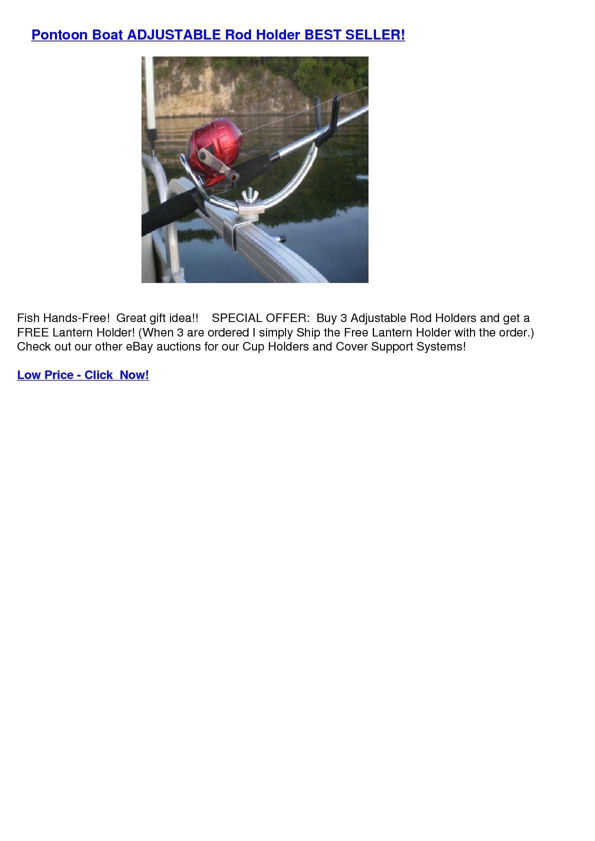 Calameo Pontoon Boat Adjustable Rod Holder Best Seller