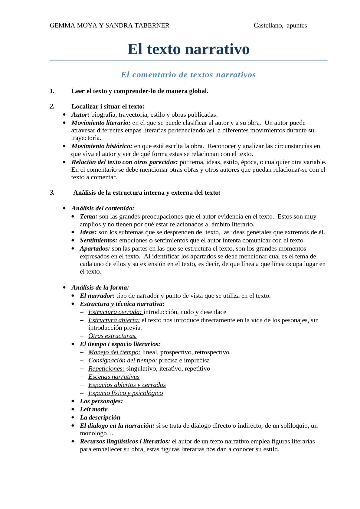 Calaméo Castellano Apuntes Textos Narrativos
