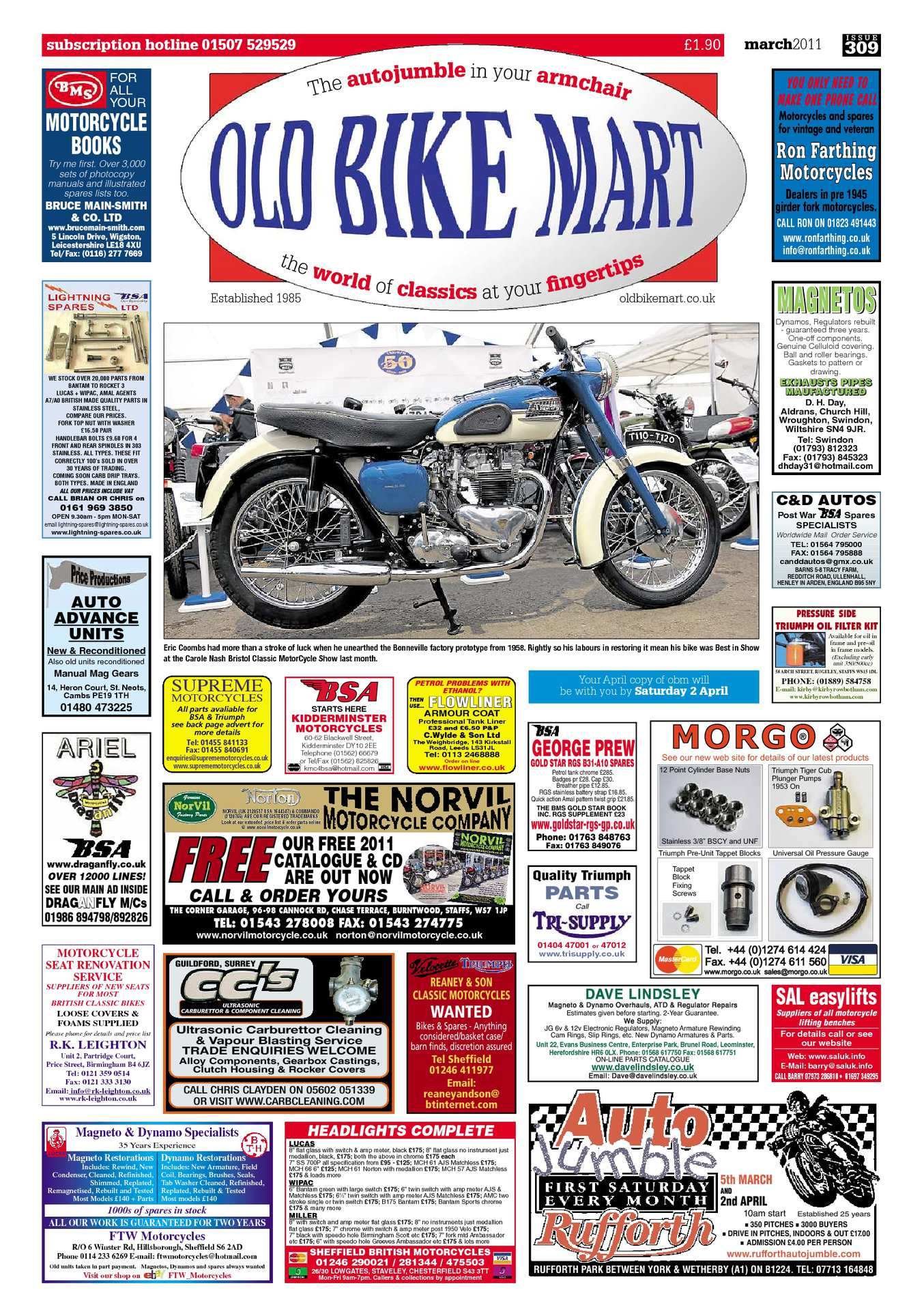 60399a5aae5 Old Bike Mart - March 2011. by MortonsMediaGroup