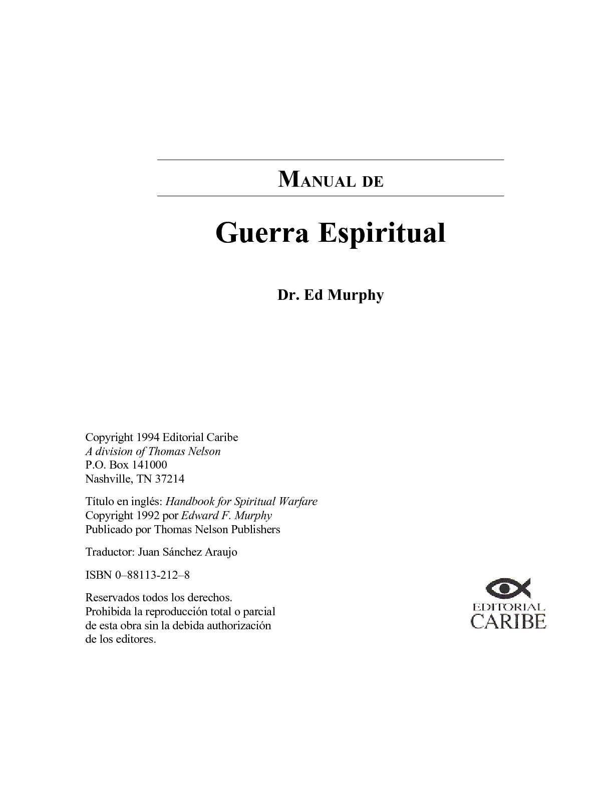 Calaméo Manual De Guerra Espiritual
