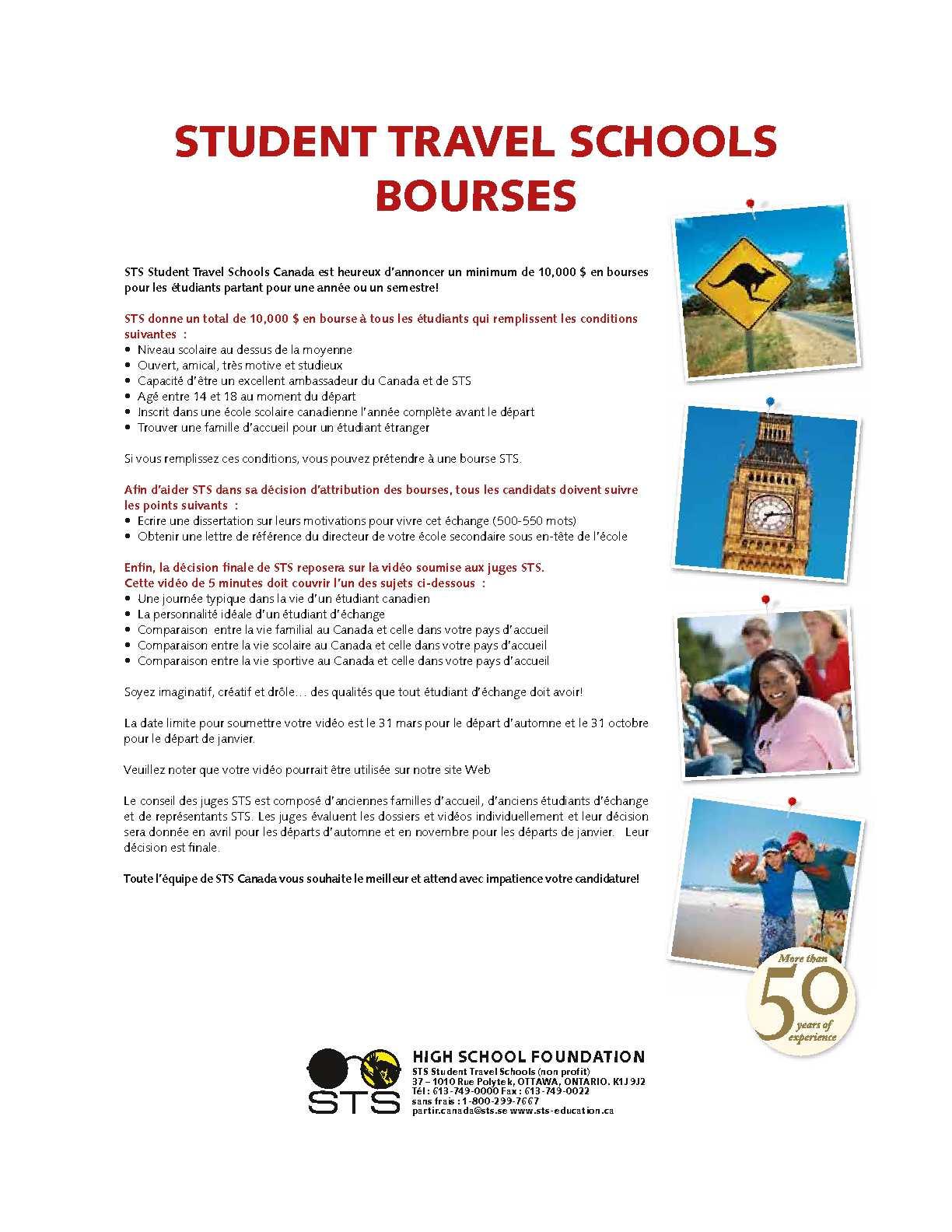 Calaméo Sts Canada Echanges Etudiants Liste Des Prix 2011