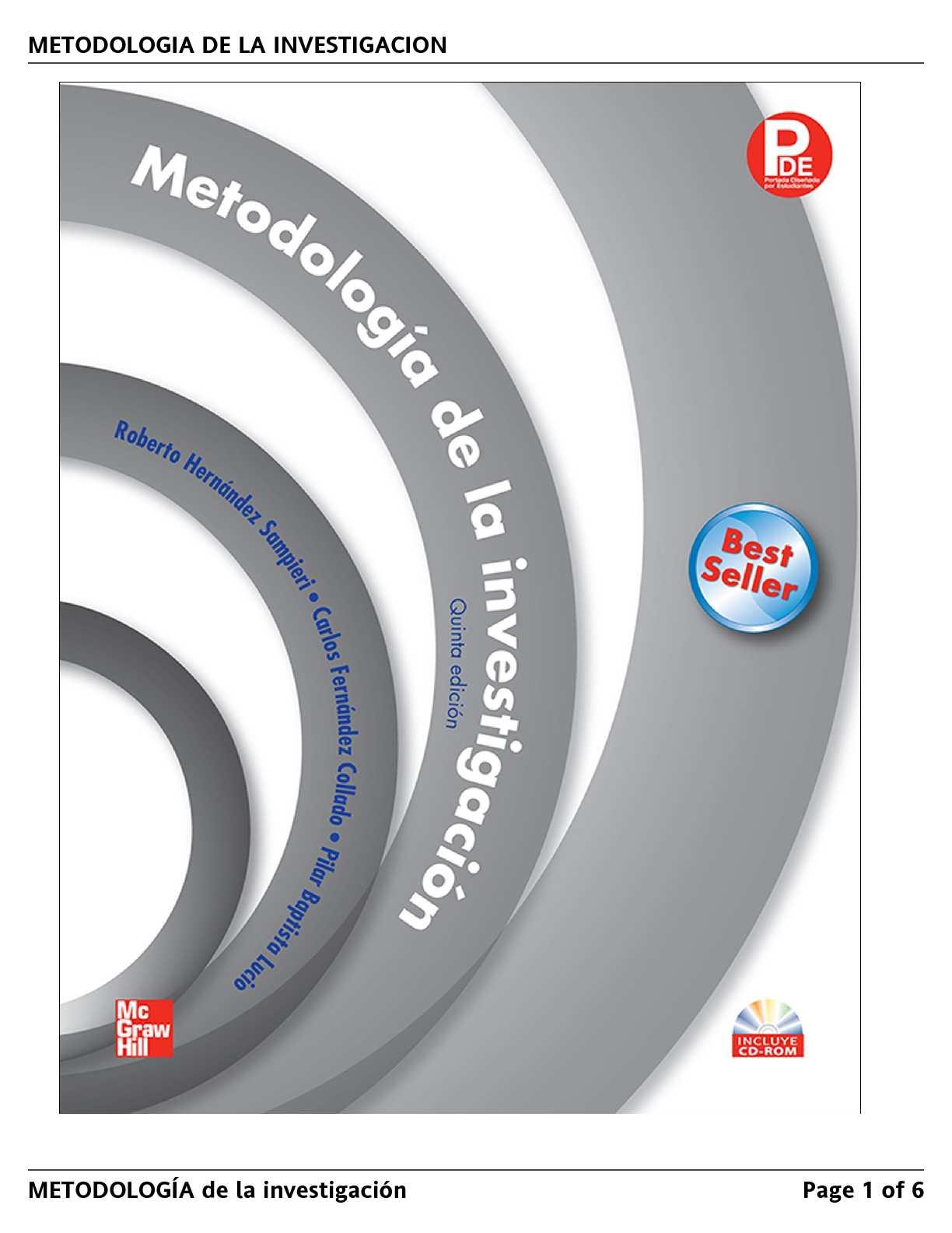 libro de metodologia de la investigacion sampieri pdf